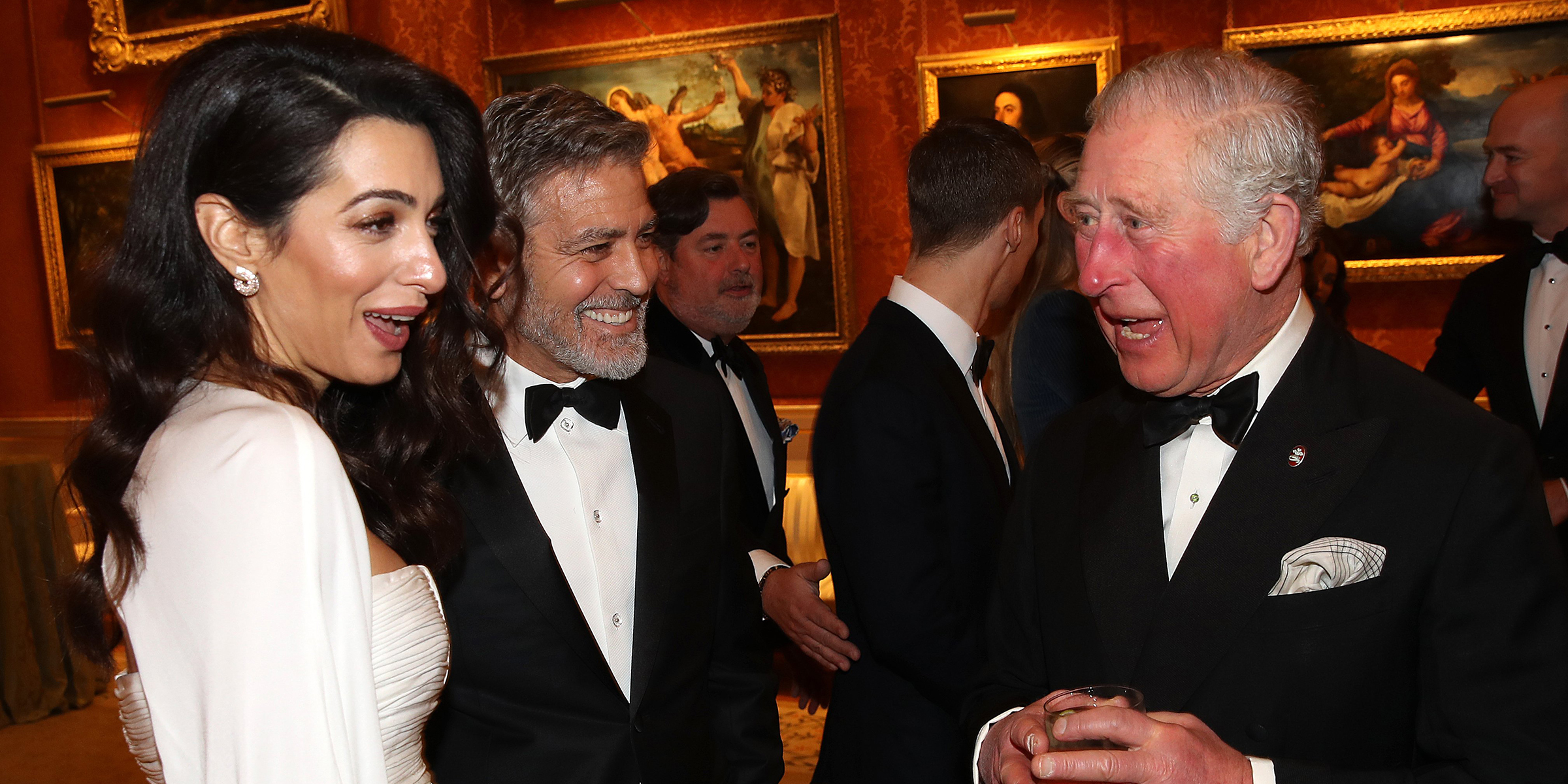 George and Amal Clooney dazzle at Buckingham Palace dinner