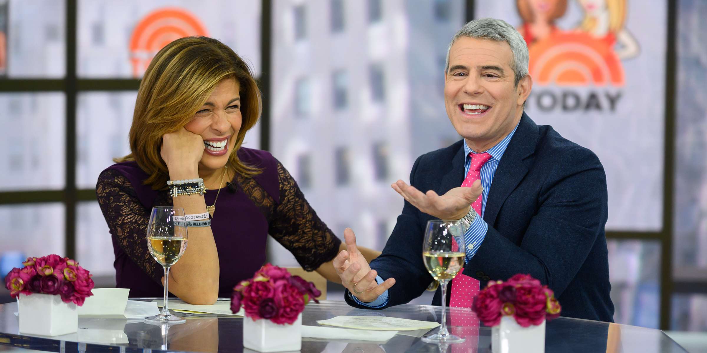 Andy Cohen and Hoda Kotb joke about having the same hairstyle in college