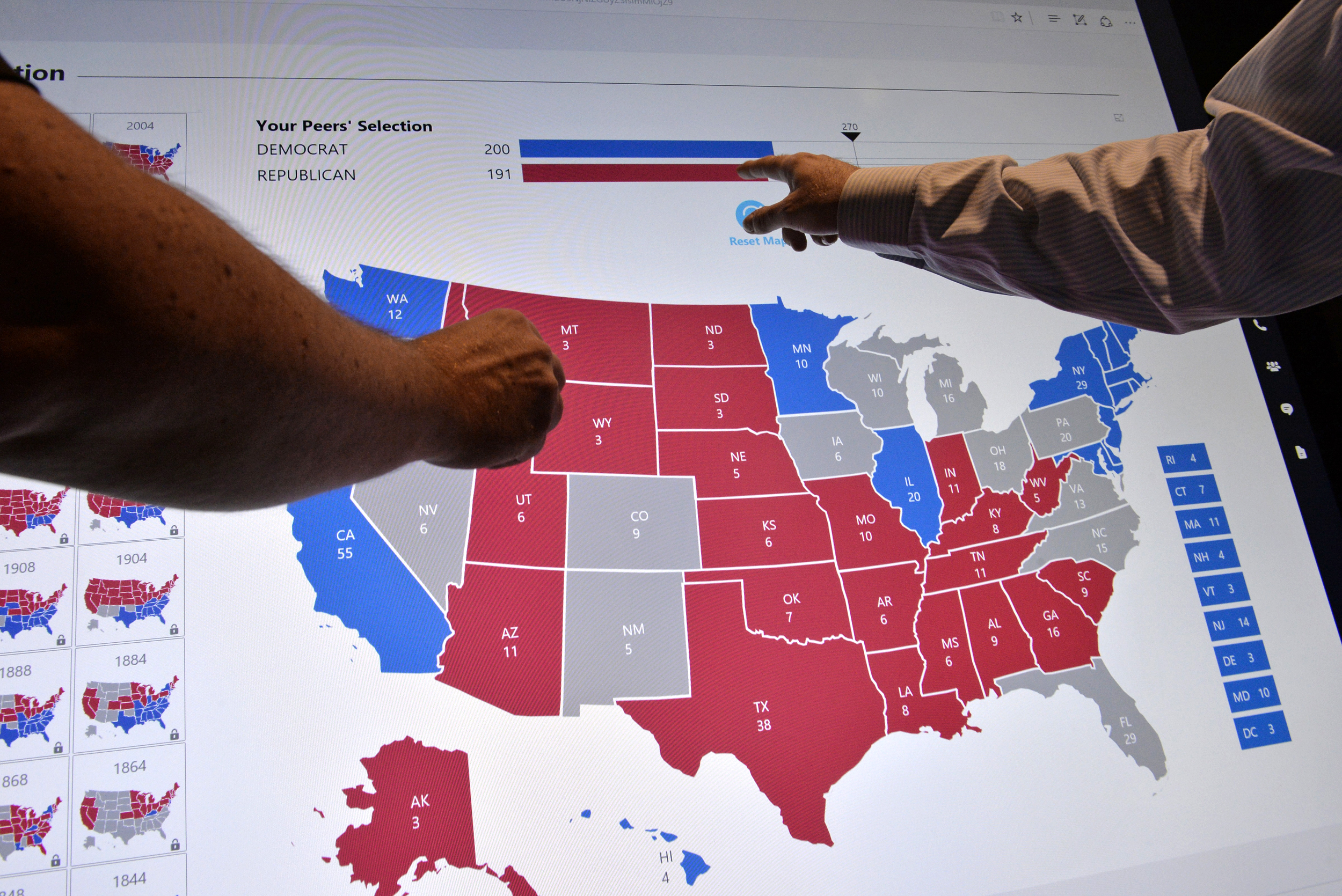 Reworking the Electoral College might not change the results
