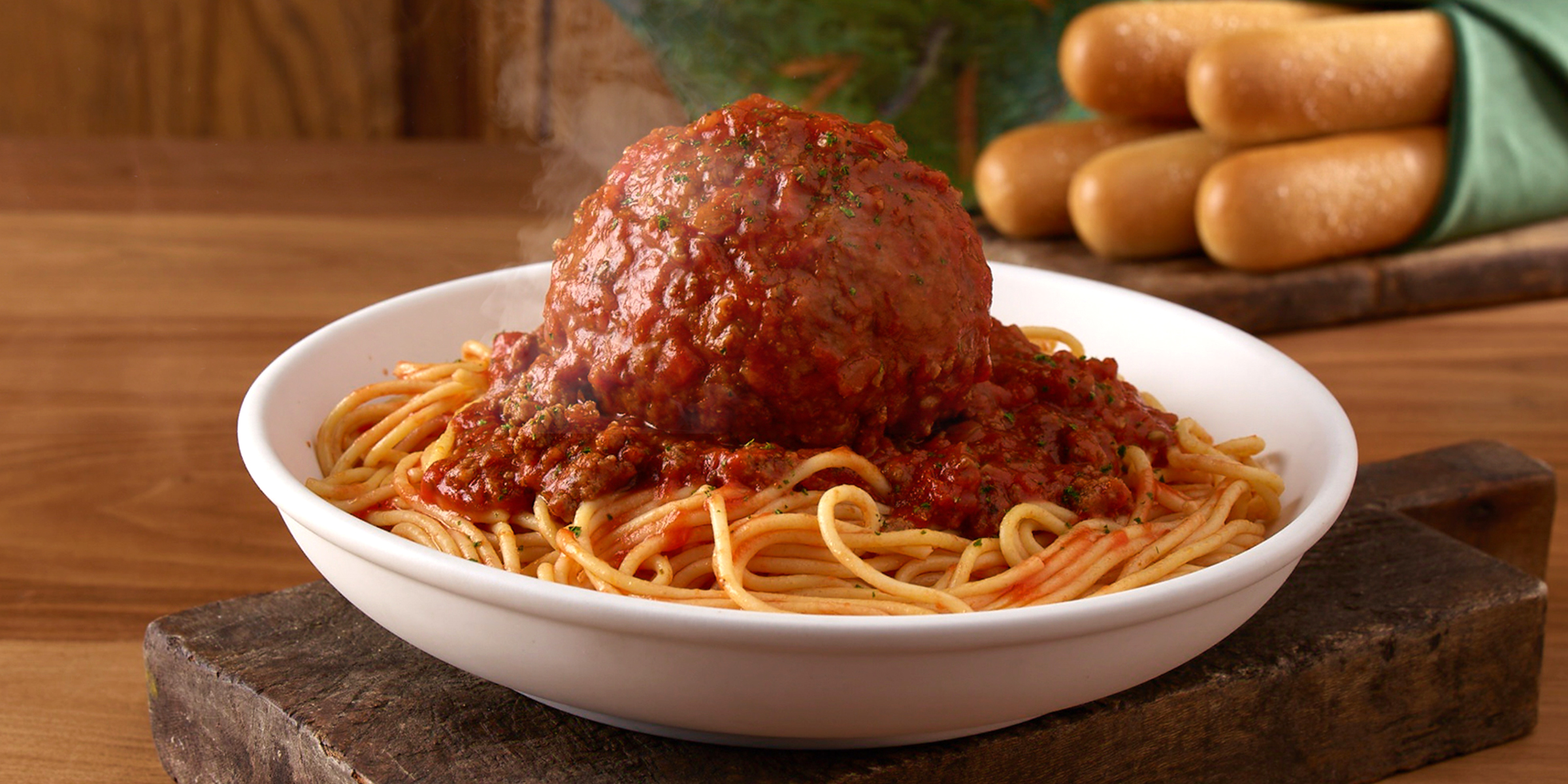 Olive Garden Debuts Giant Meatball And Giant Chicken Parmesan