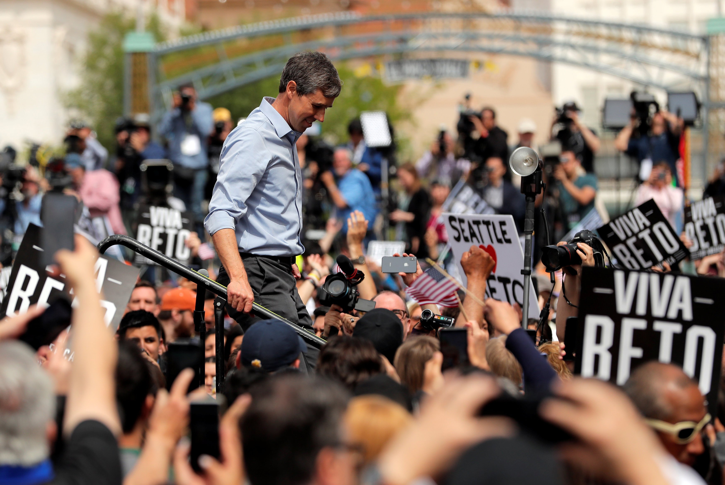 O'Rourke kicks off campaign in hometown, promises largest grassroots campaign