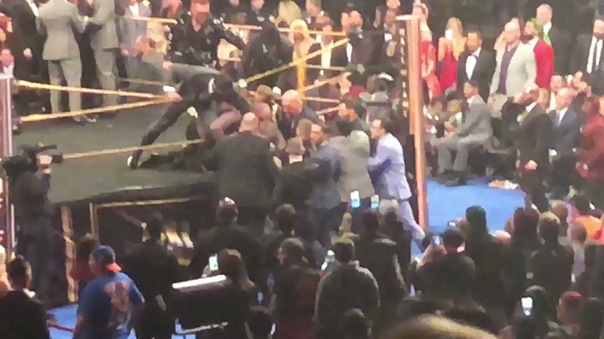 Bret 'Hit Man' Hart punched by man who rushed stage at WWE event