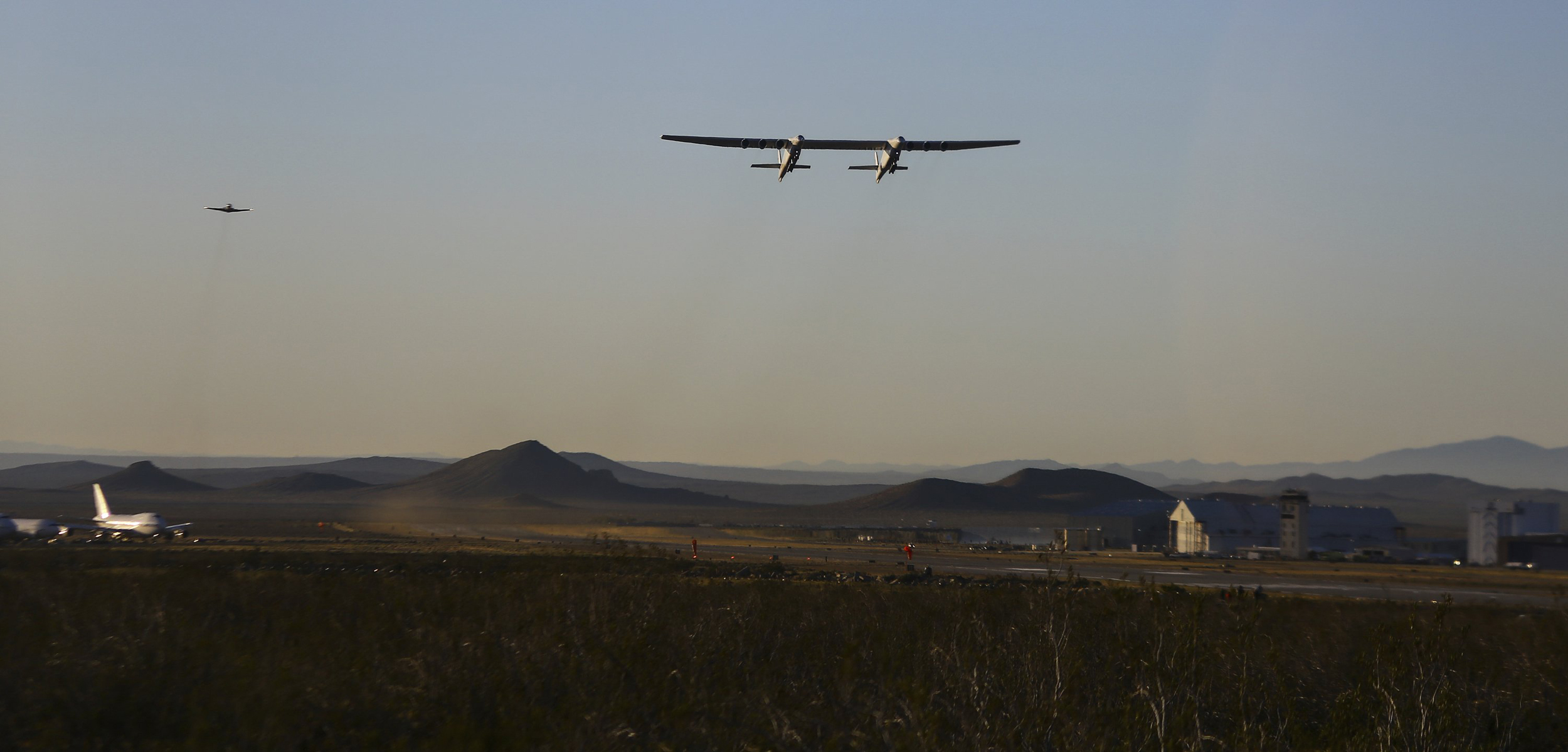 Stratolaunch,-the-world's-largest-airplane,-takes-first-flight