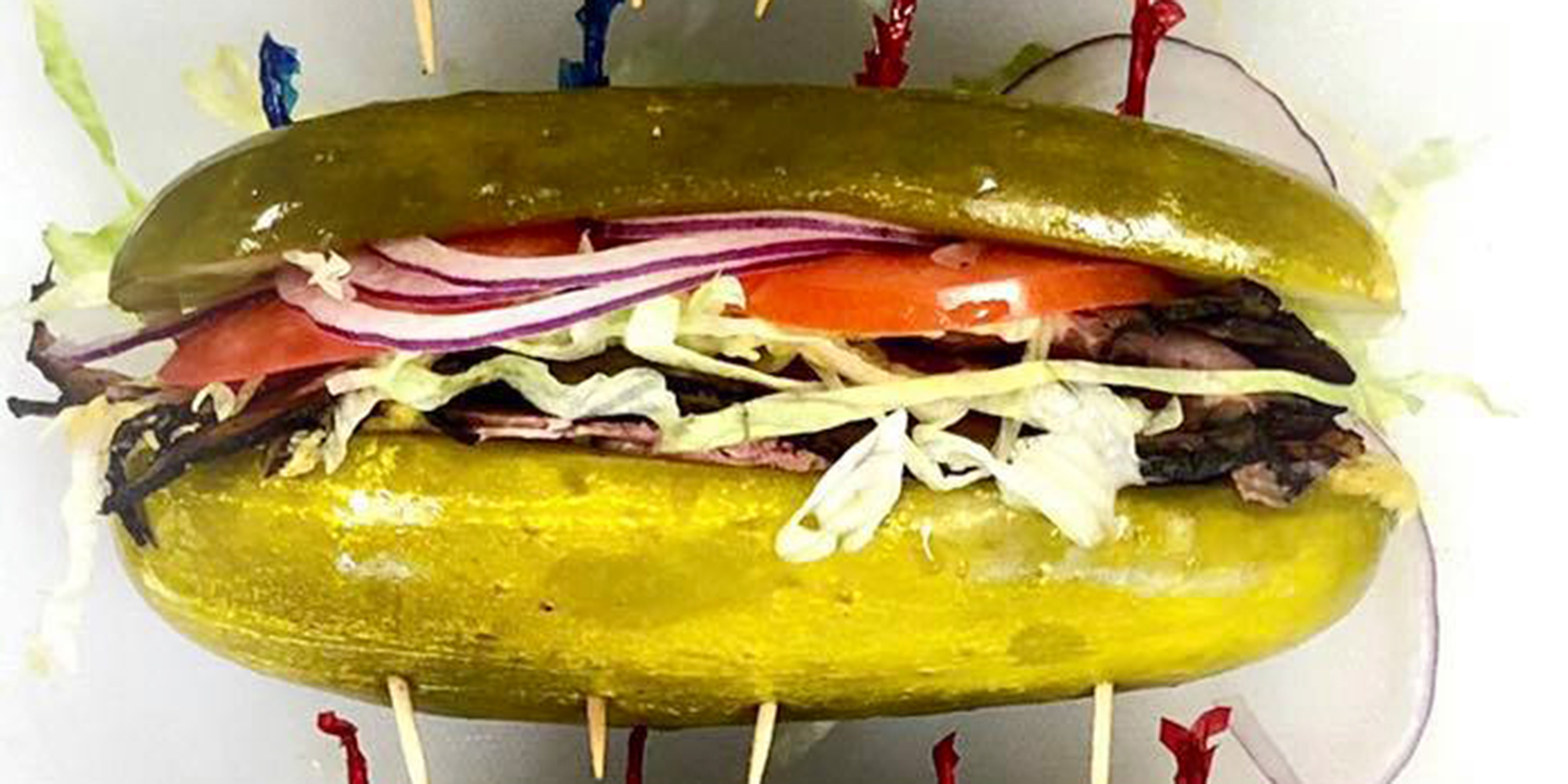 Restaurant replaces bread with pickles for its sandwiches