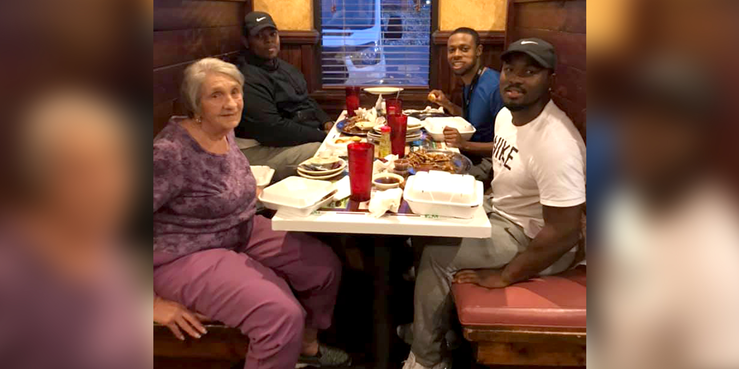 Widow was dining alone before anniversary — until these men stepped in