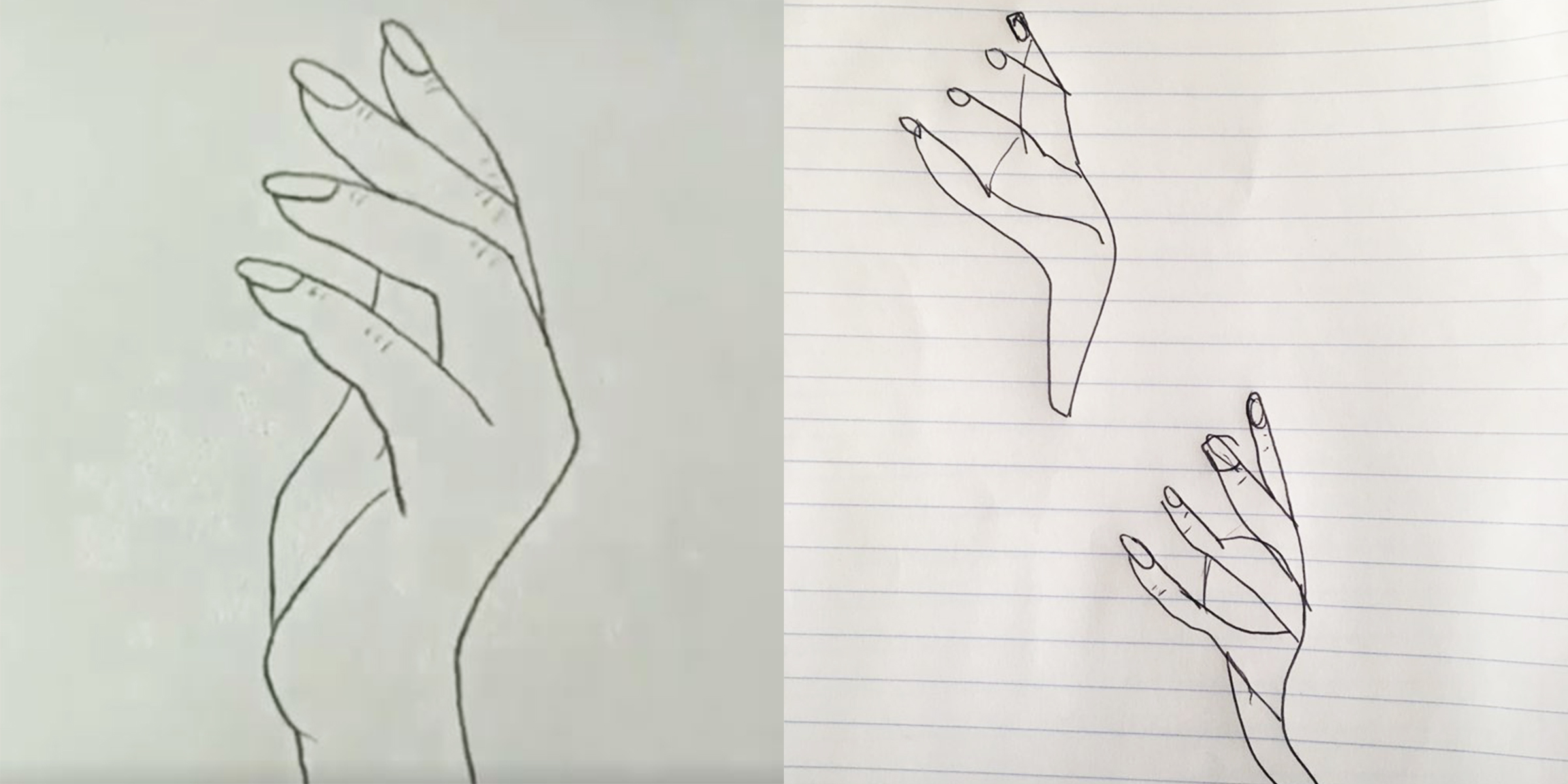 Amateur Artists Are Trying To Re Create Viral Sketch Of Hand