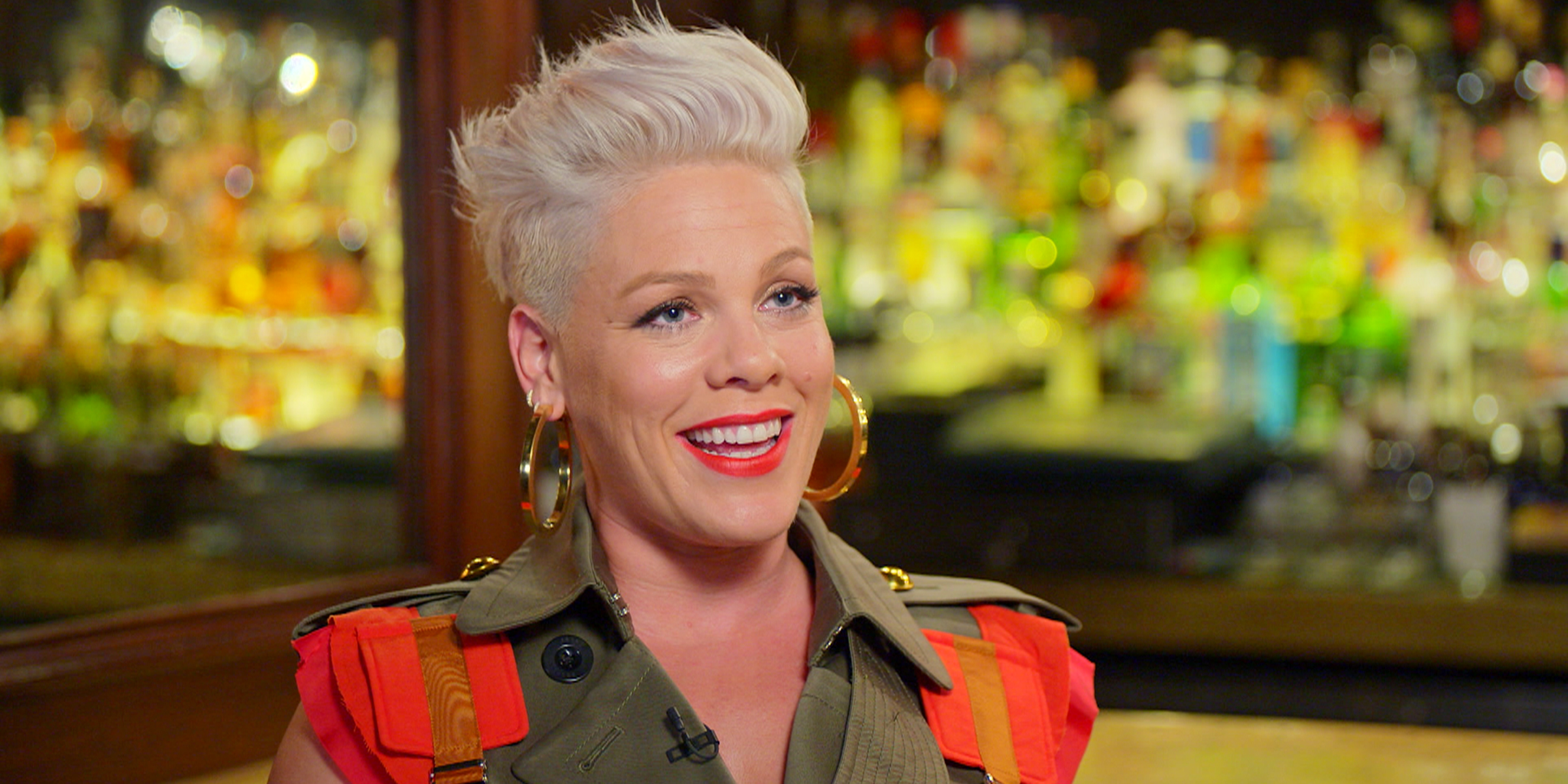 Pink tells Carson how motherhood 'completely changed' her