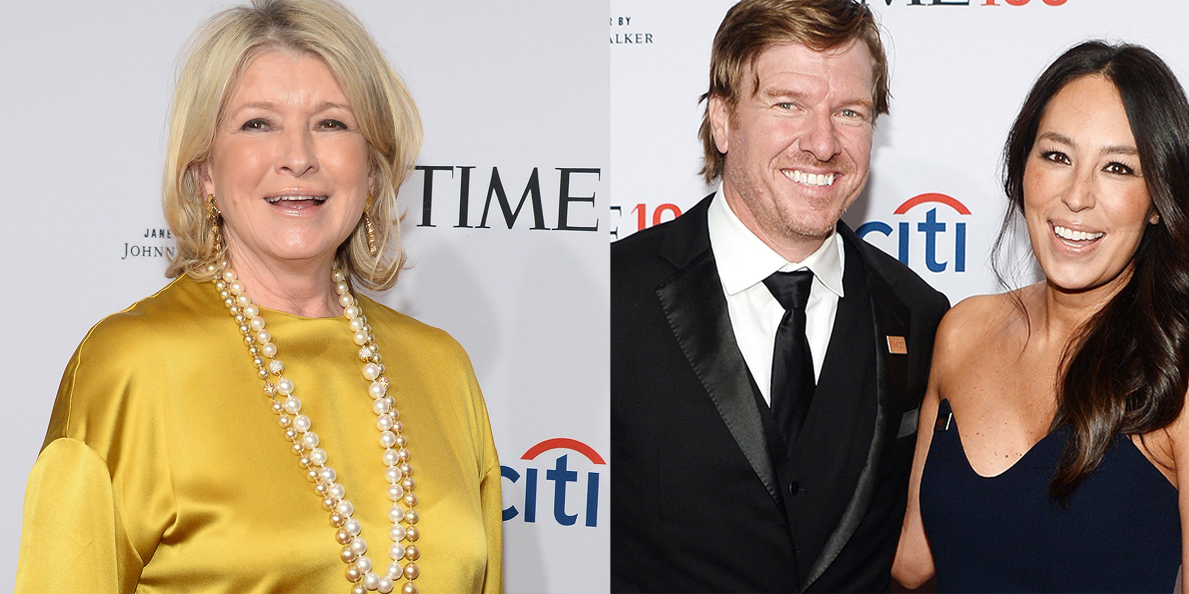 Chip and Joanna Gaines met Martha Stewart at TIME 100 gala