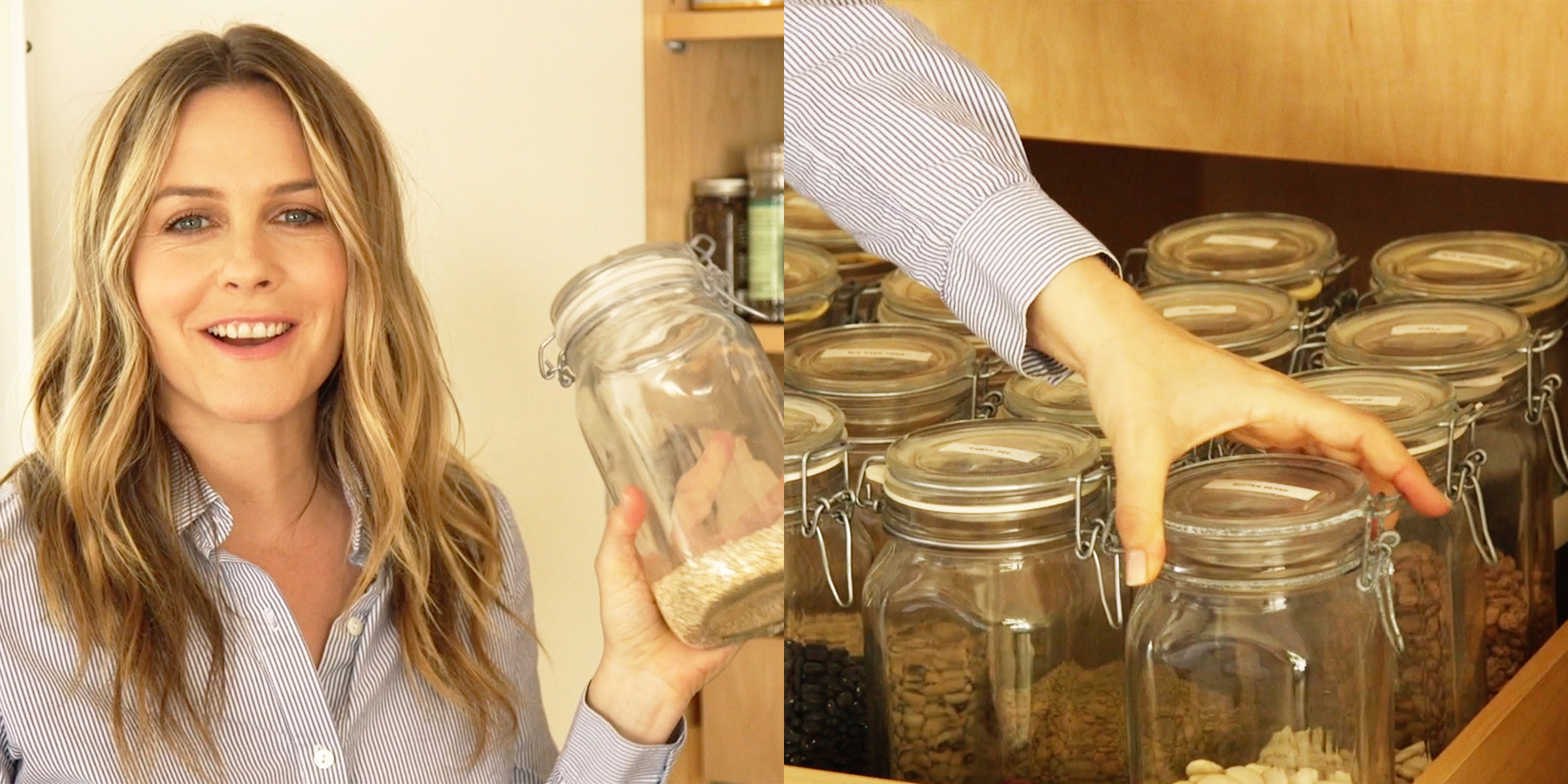 Peek inside Alicia Silverstone's perfectly organized pantry and gorgeous kitchen