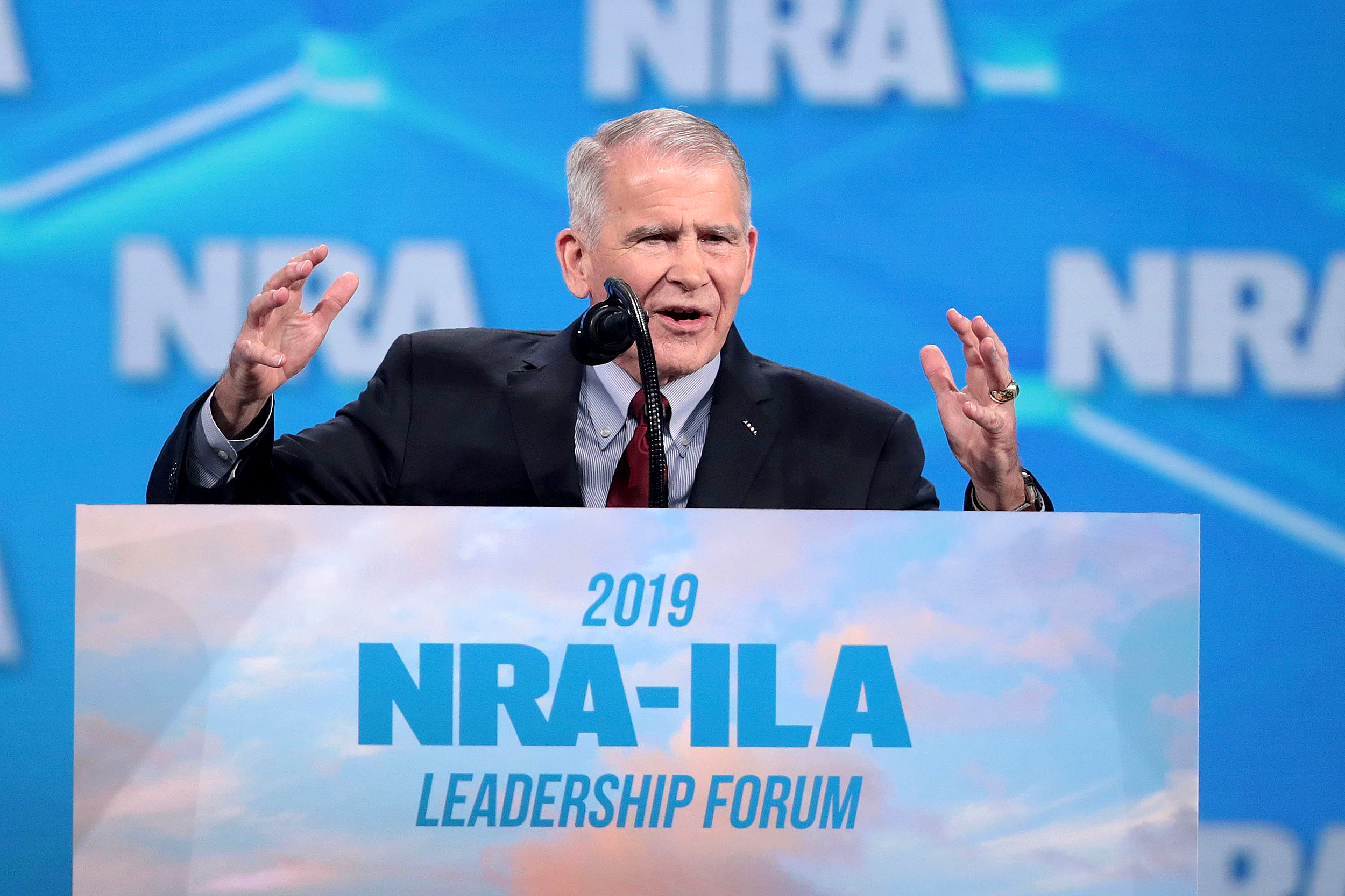 Image: President Trump And Other Notable Leaders Address Annual NRA Meeting