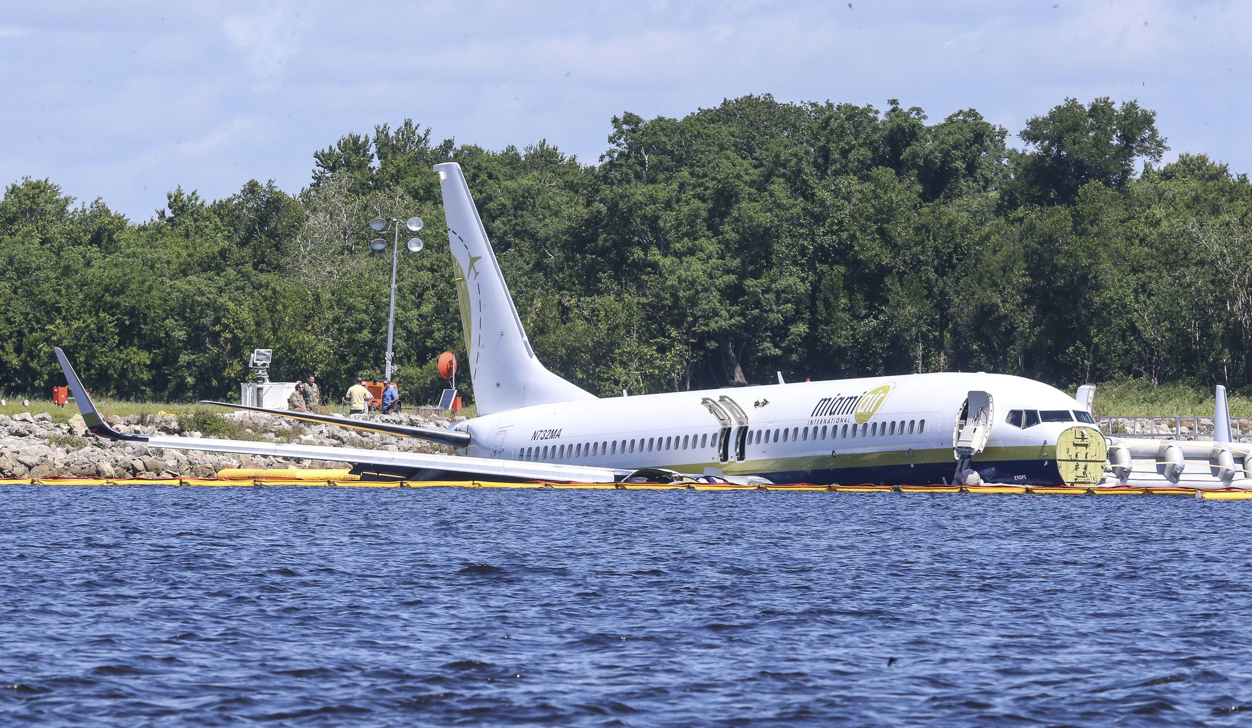 Fate of pets aboard jet that skid off runway in Florida remains unclear