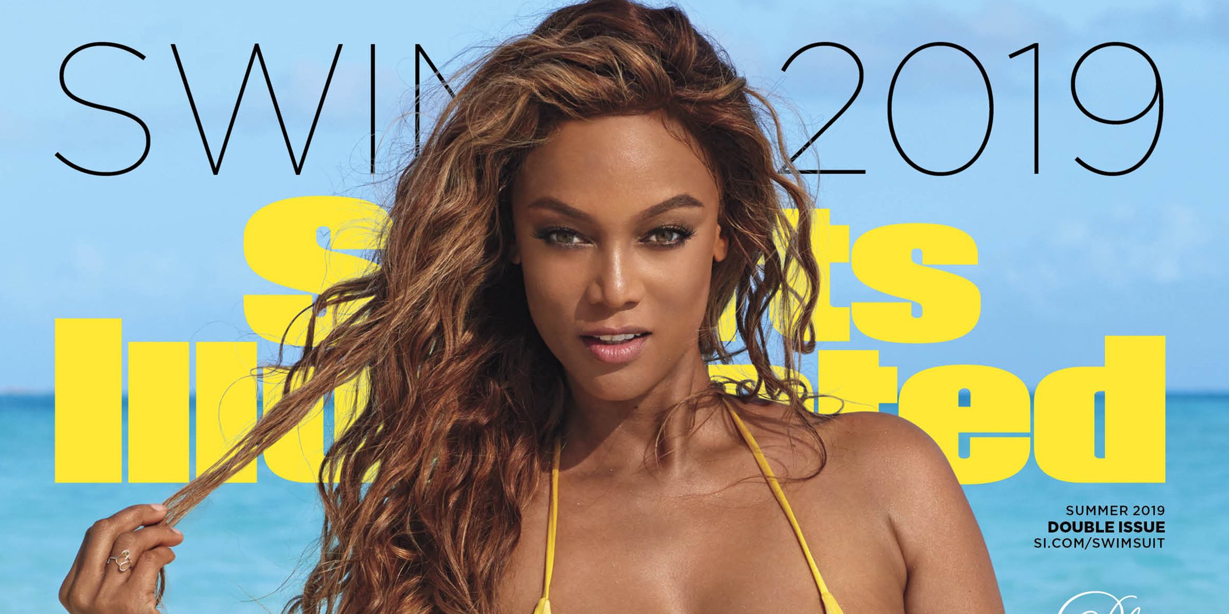 Tyra Banks Returns As A Sports Illustrated Swimsuit Cover Model At 45