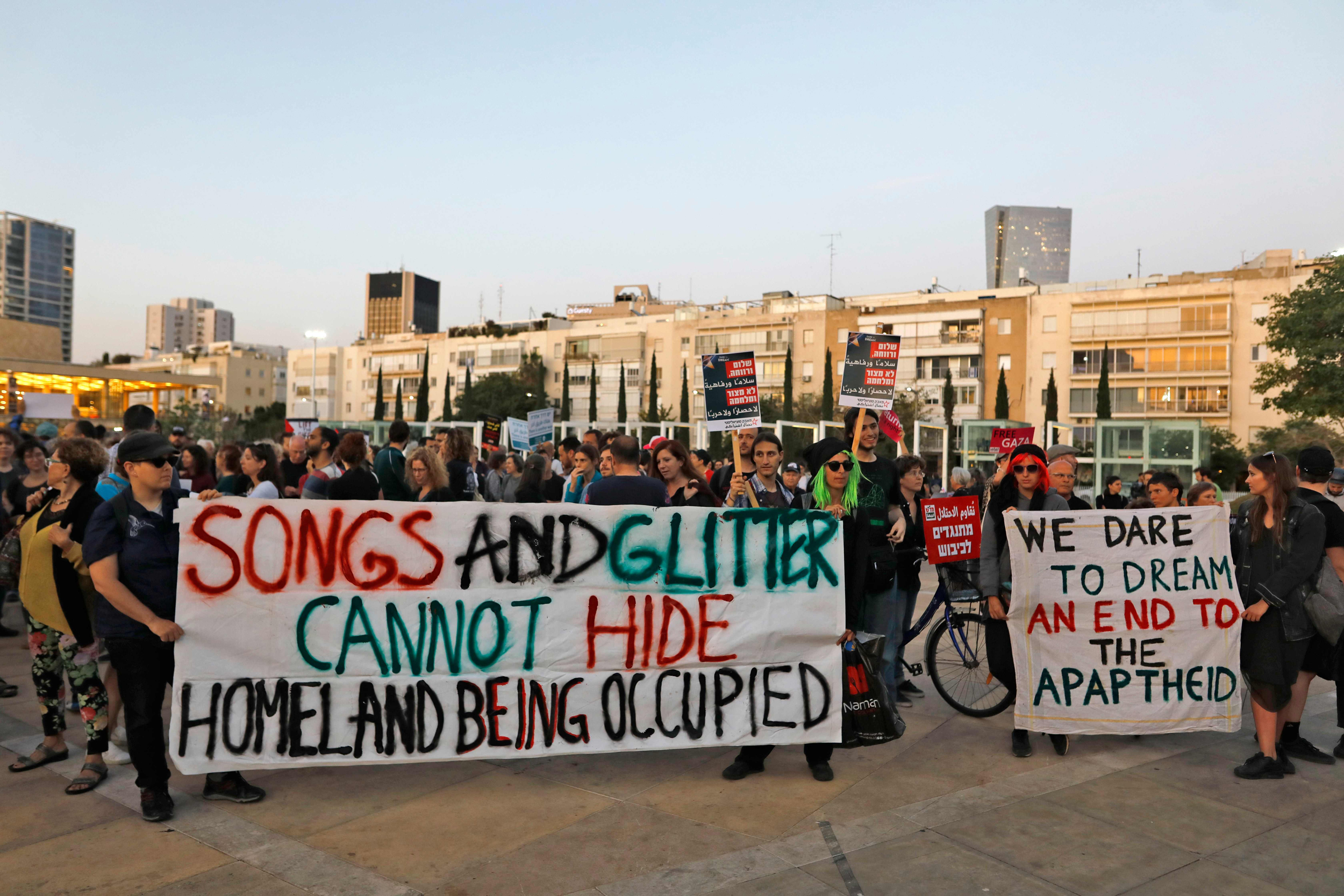 Israel hosts Eurovision song contest amid protests