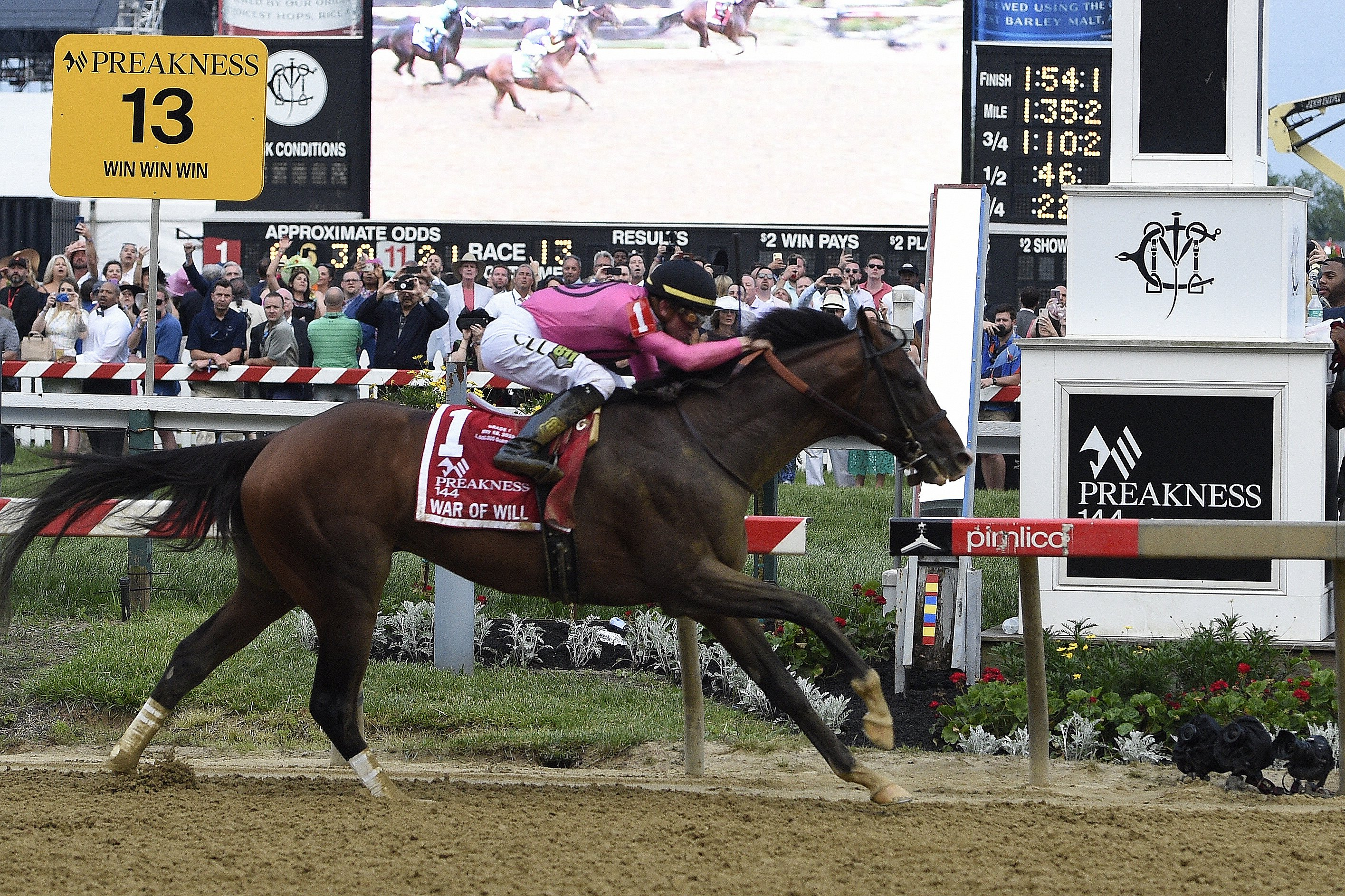 War of Will wins the 2019 Preakness Stakes