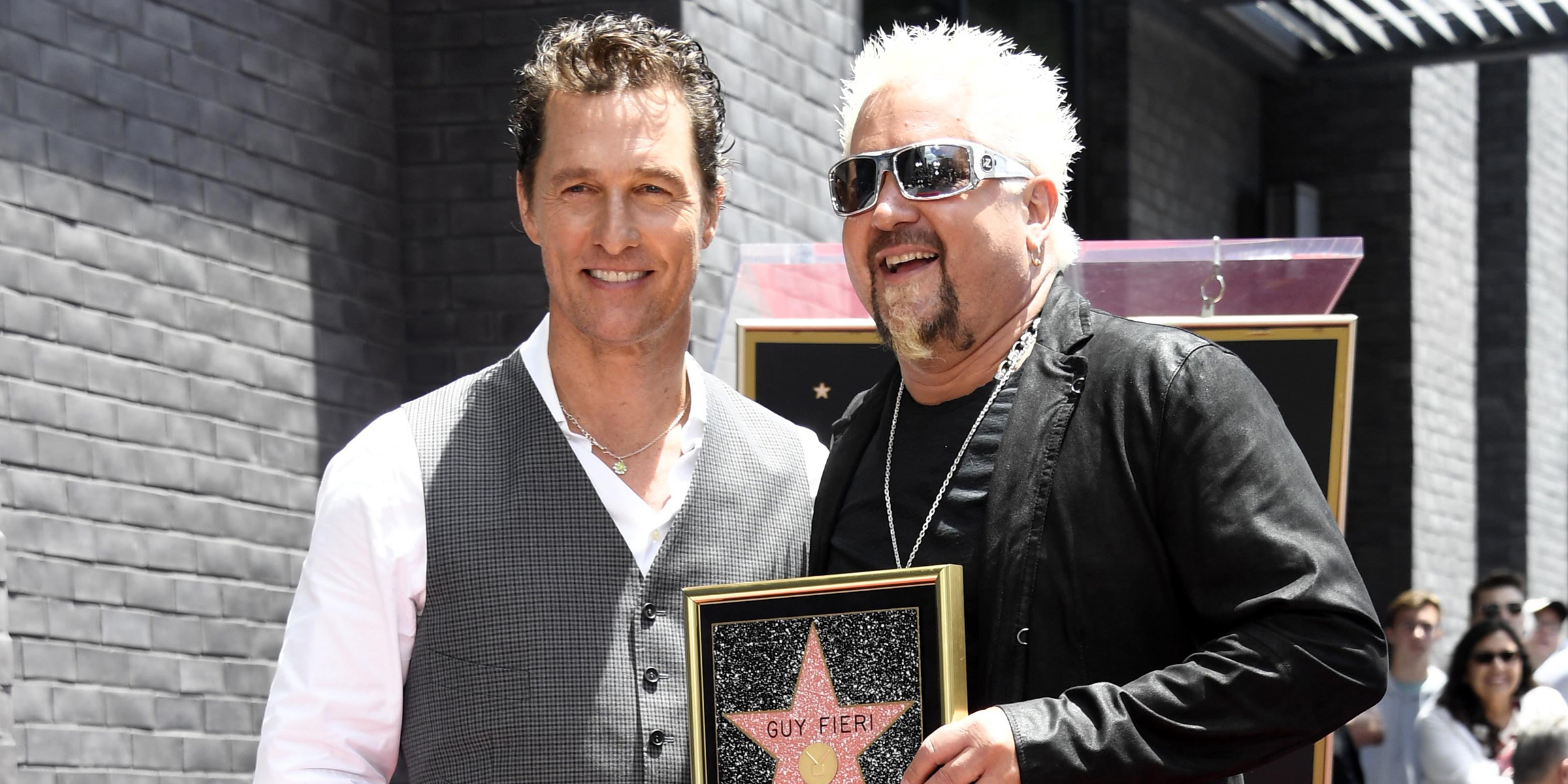 Matthew McConaughey celebrates pal Guy Fieri on the Hollywood Walk of Fame