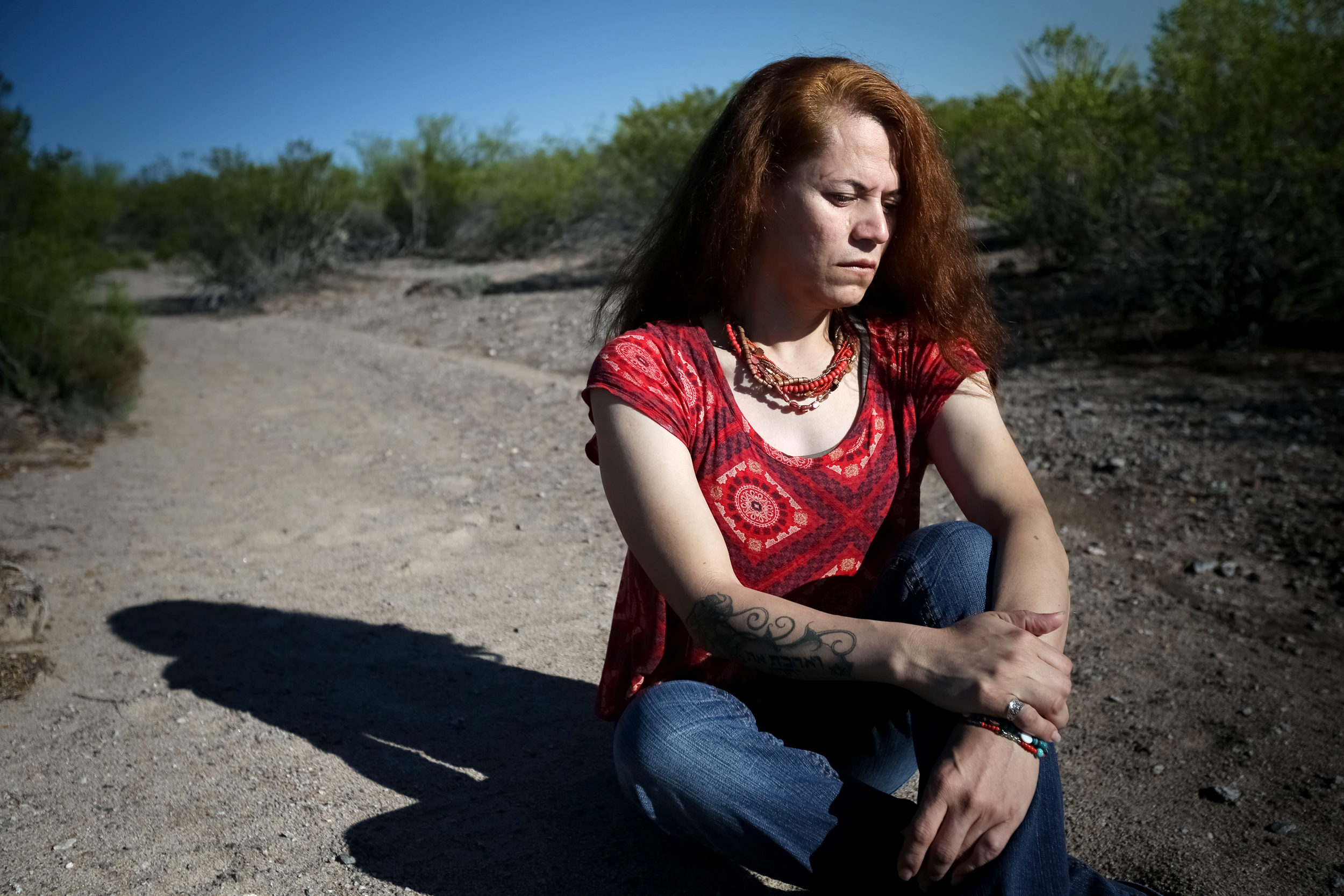 Image: Dulce Rivera, a transgender woman from Central America, was detained by ICE in 2017 and placed in the transgender unit at Cibola.