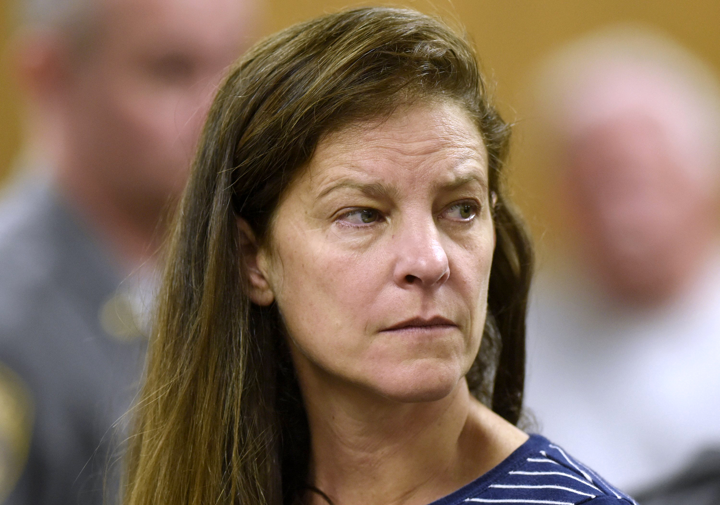 Image: Michelle Troconis is arraigned on charges at Norwalk Superior Court in Connecticut on June 3, 2019.