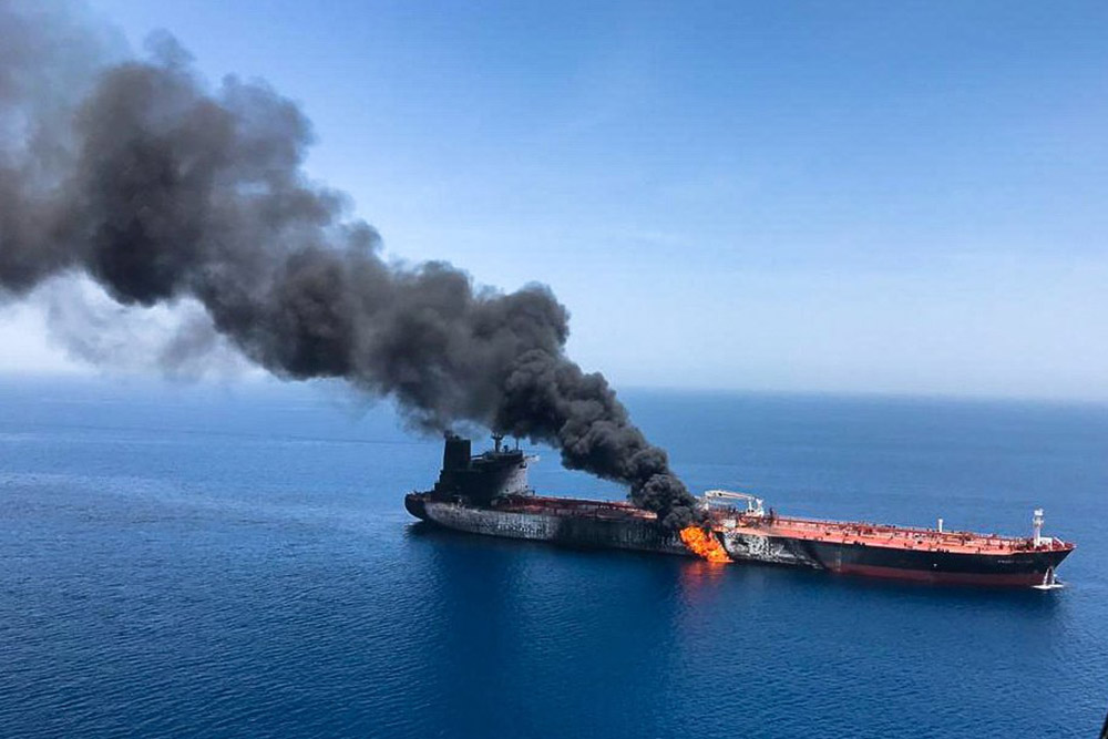 Japanese tanker owner contradicts U.S. officials over explosives used in Gulf of Oman attack