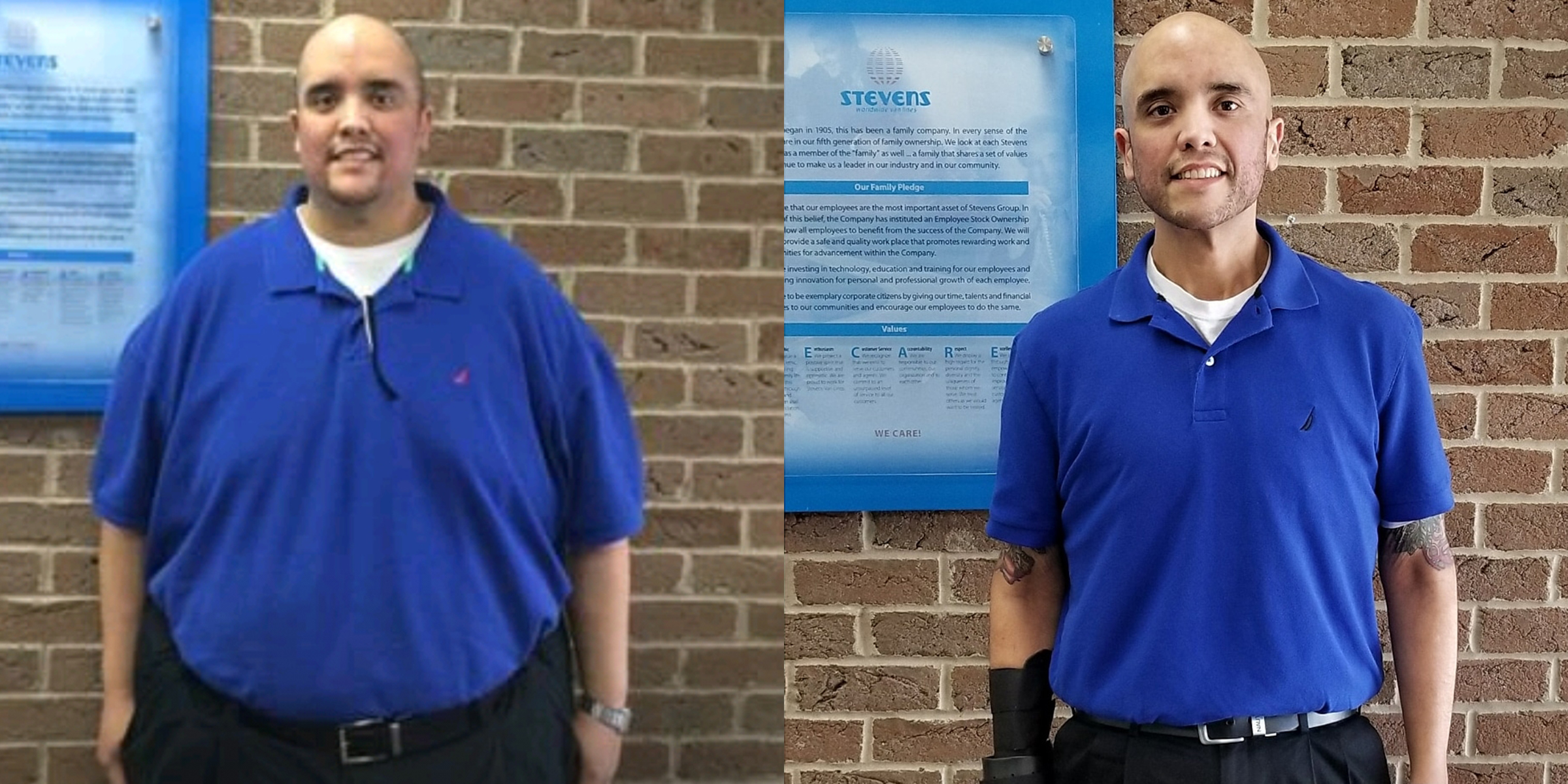 This man lost over 450 pounds and just completed his first marathon