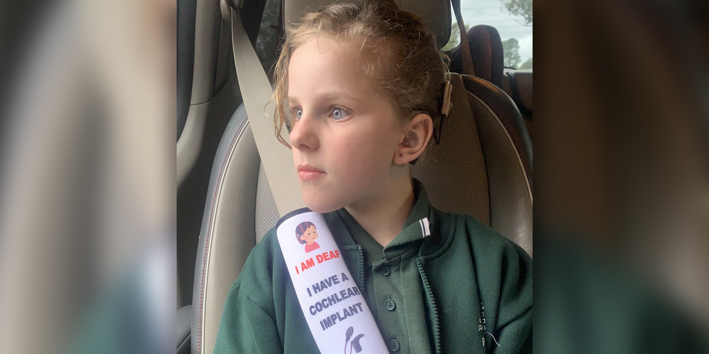 Mom creates seat belt covers for kids with special needs