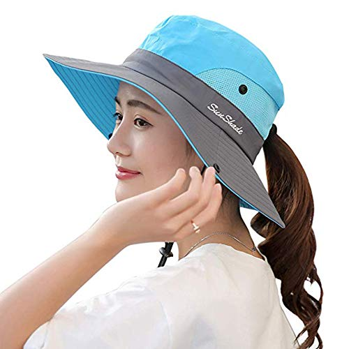 Comhats Womens Summer Flap Cover Cap Cotton UPF 50 Sun Shade Hat with Neck Cord