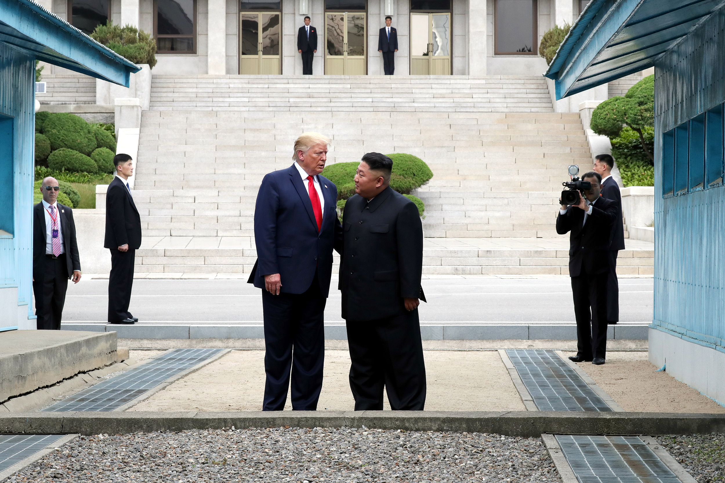 Image result for trump stepping into north korea