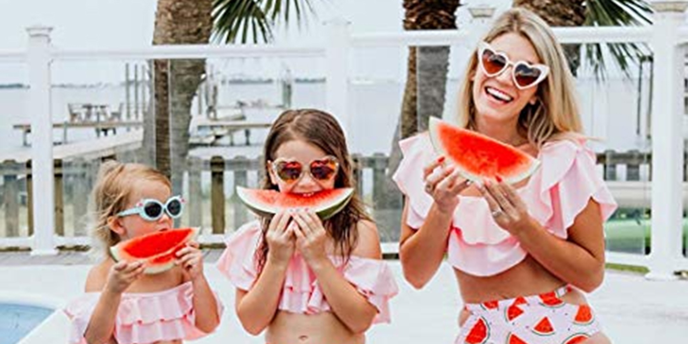 5ae2dfa4efa Matching mother daughter swimsuits and some for the whole family