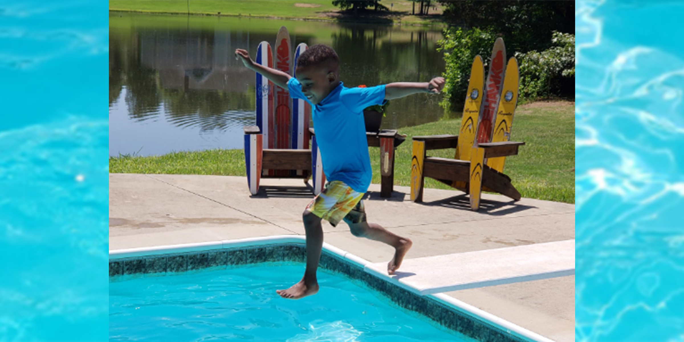 Boy afraid of diving board in viral video learns to dive