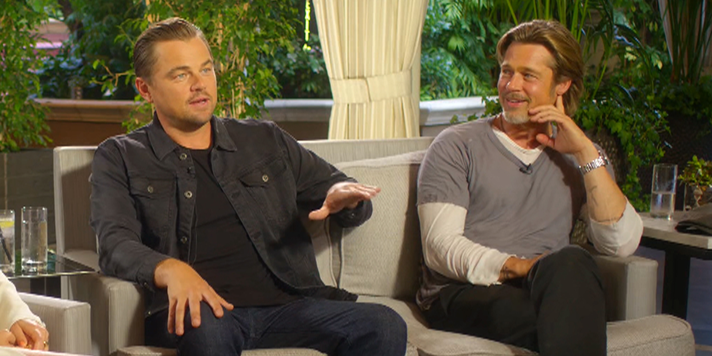 Brad Pitt and Leonardo DiCaprio share a laugh about their days on 'Growing Pains'