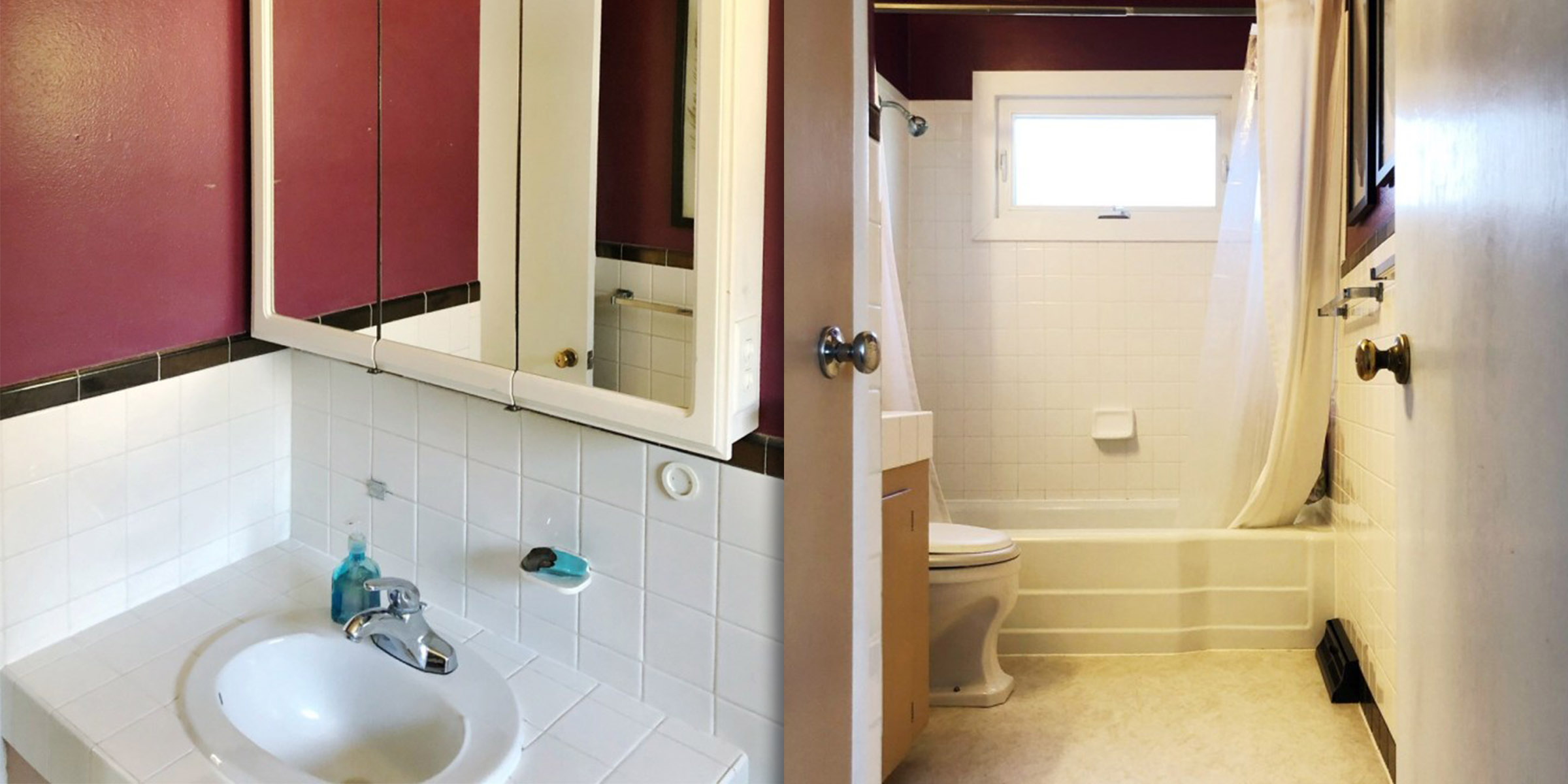 See this bathroom go from glum to glam after a makeover — for less than $300!