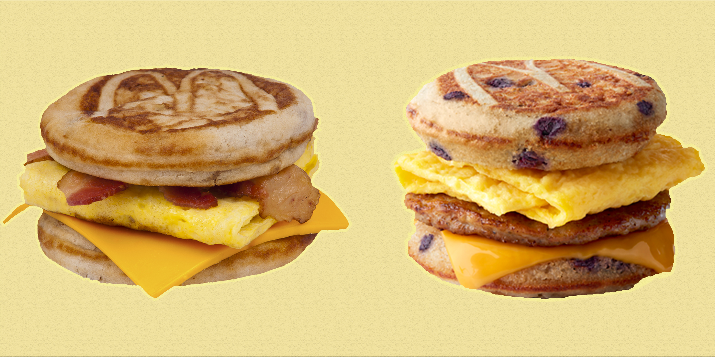 McDonald's just launched a new blueberry pancake McGriddles