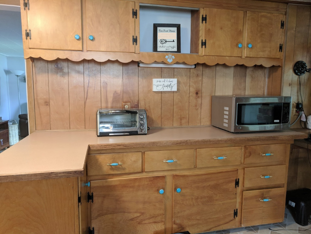 See An Old School Kitchen Counter Get A Granite Makeover For Just 35