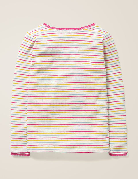 Generic Little Boys Girls Solid Color Long Sleeve T-shirts Tops 6-7 yellow