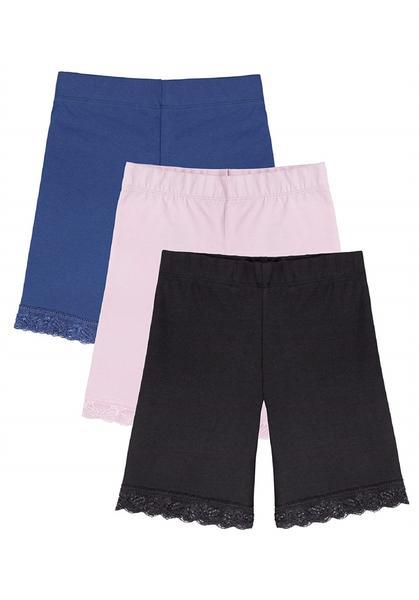 Wonder Nation Girls White Graphic Active Tee and Pink Bermuda Shorts Set