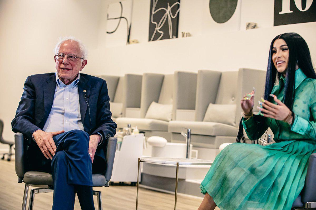 Cardi-B-grills-Bernie-Sanders-on-jobs-and-wages-at-a-nail-salon