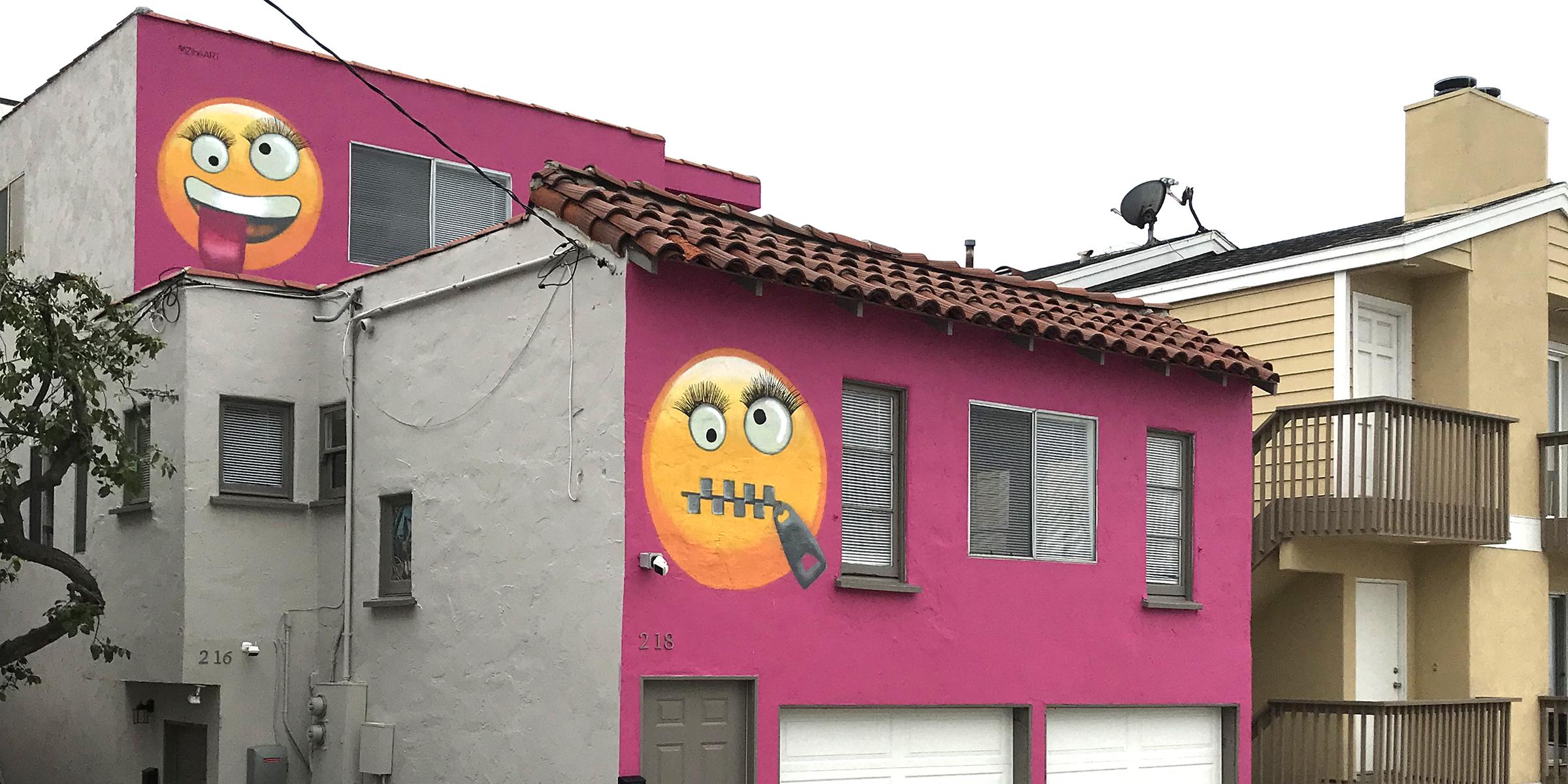 Hot Pink Emoji House Causes Neighborhood Uproar Debate