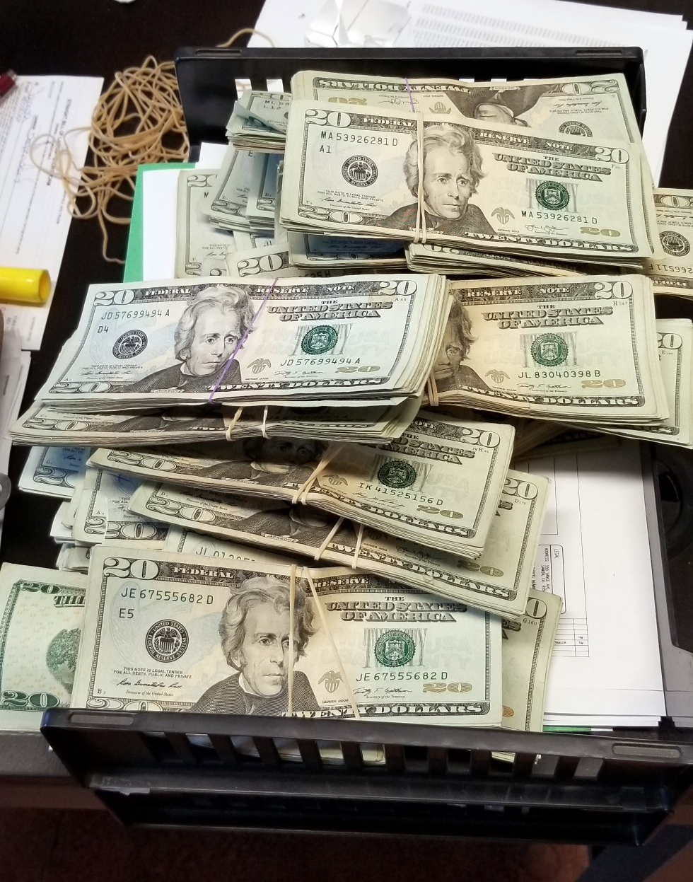 Shoebox Full Of Money.Accidentally Recycled Shoebox Stuffed With 23k Returned To