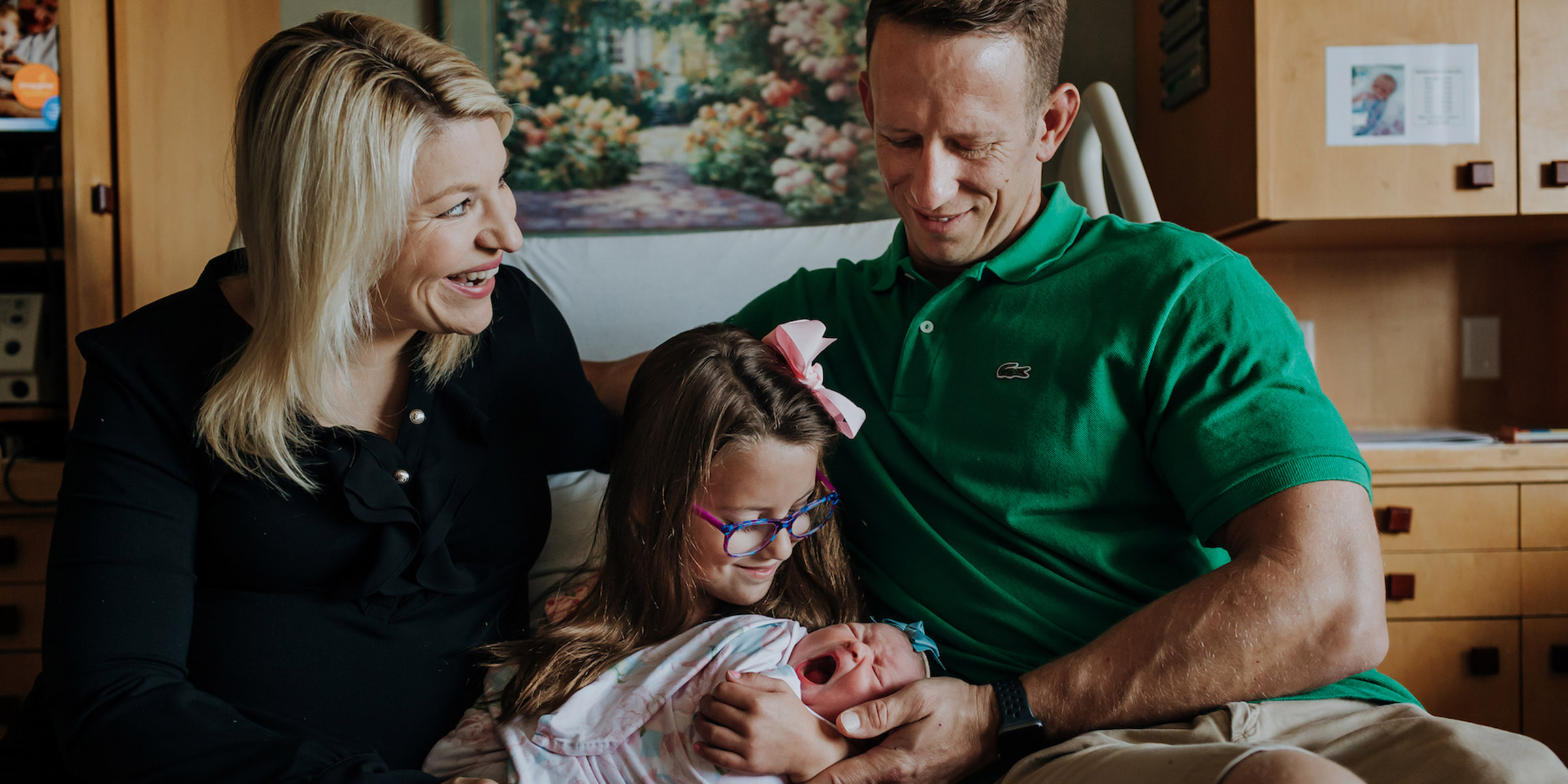 After devastating loss, family welcomes rainbow baby