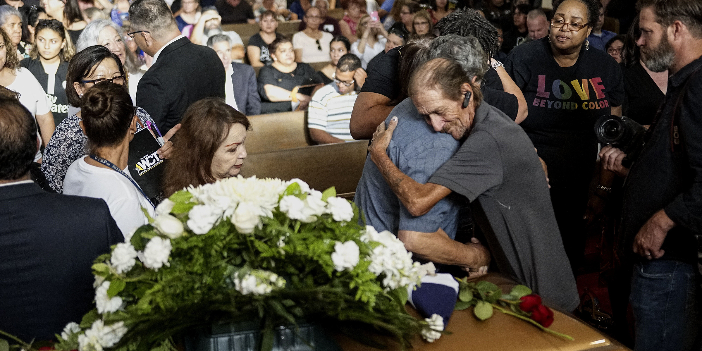 Hundreds attend funeral for El Paso shooting victim after public was invited