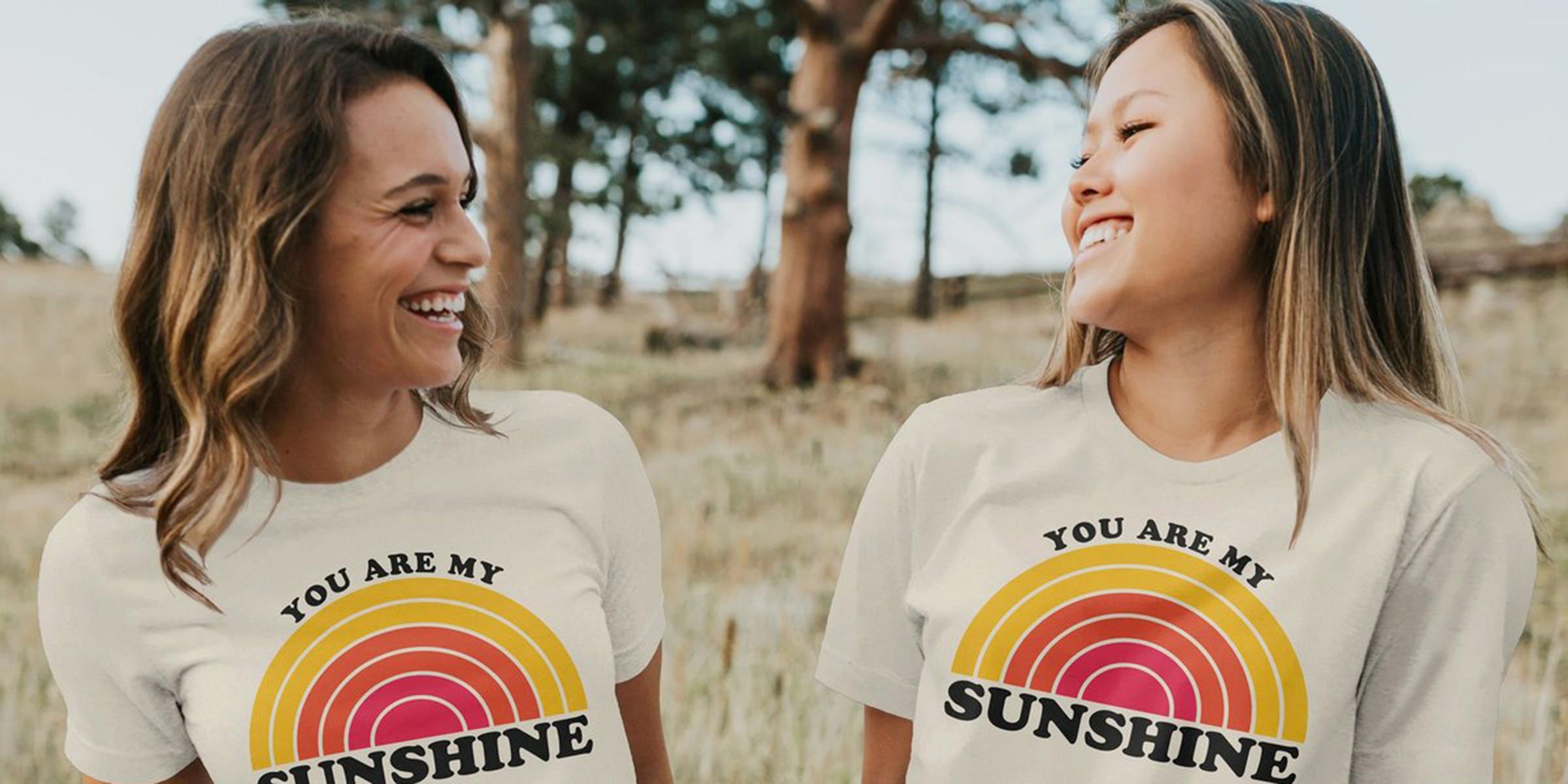 Women/'s T-Shirt You make me smile happy love Slogan Print TS1351