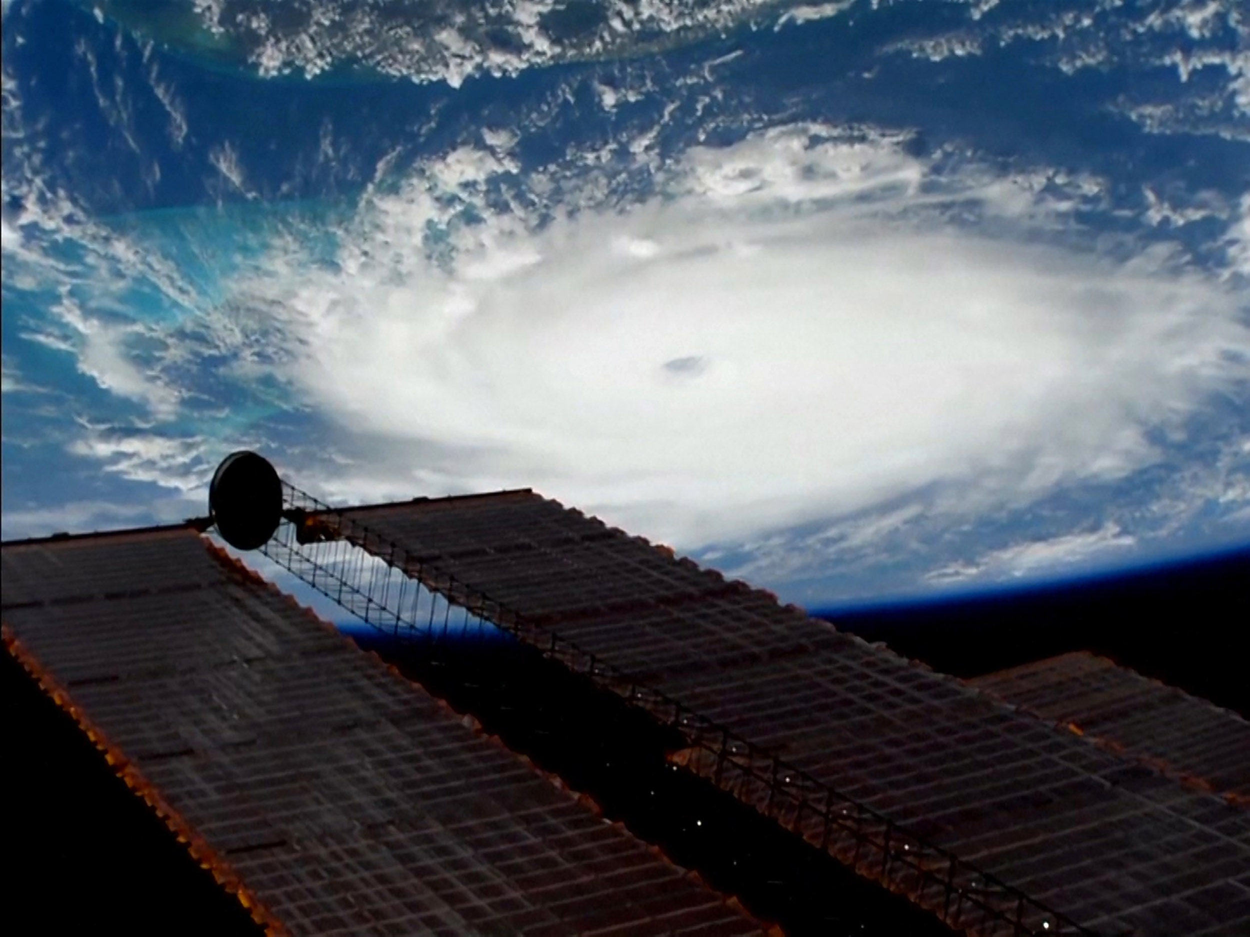 Image: Hurricane Dorian as seen from the International Space Station Sept. 1, 2019.