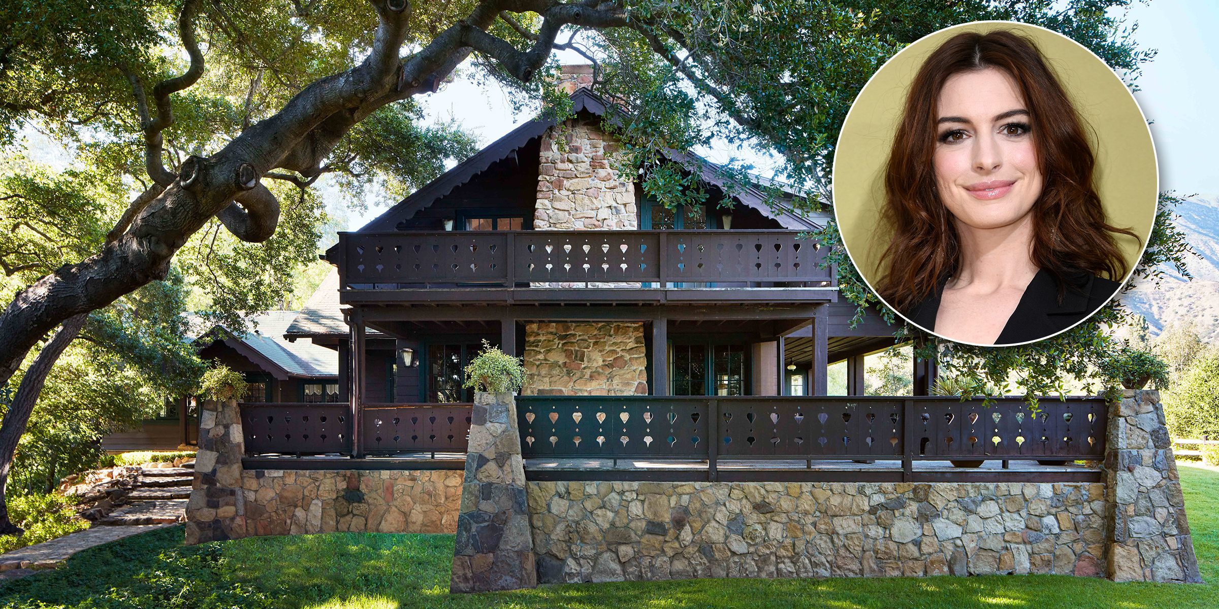 Anne Hathaway's charming California country home is straight out of a fairy tale