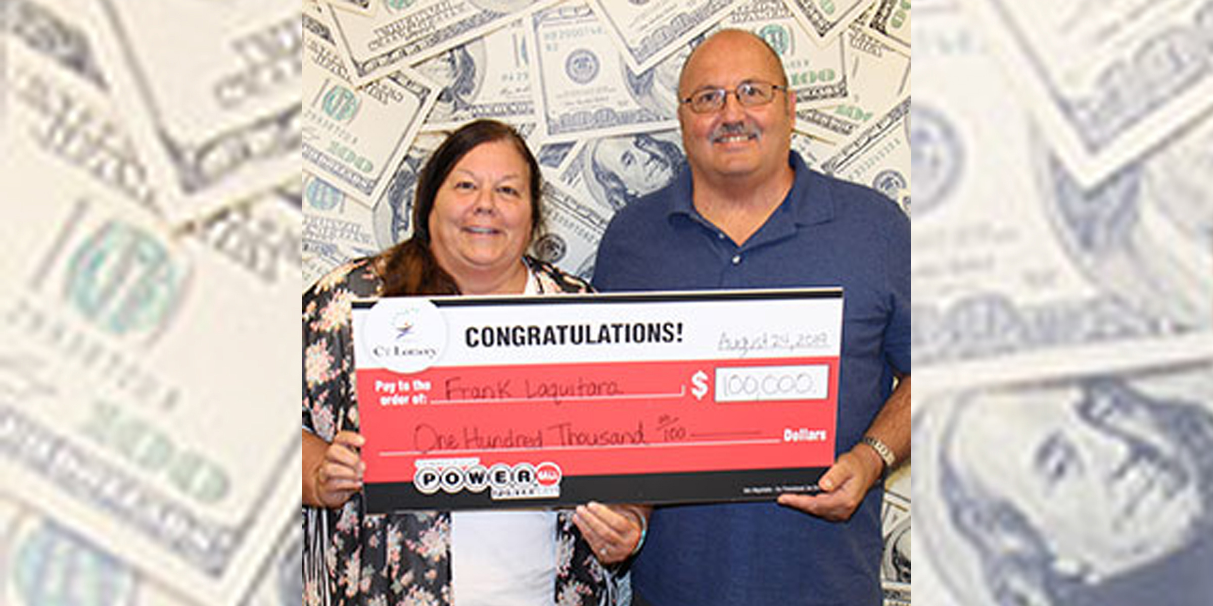 Couple finds $100,000 lottery ticket under sun visor of car