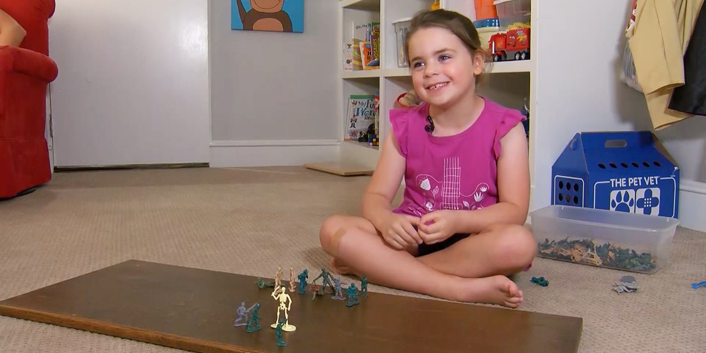 Six-year-old girl helps launch female green army men toys