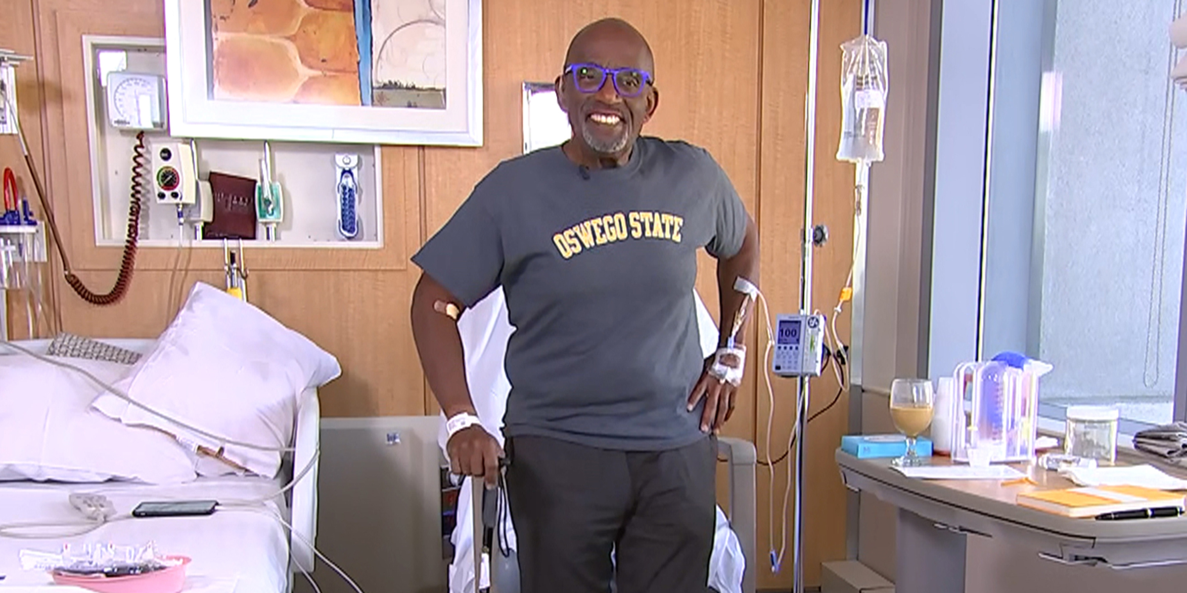 Al Roker is up and walking one day after hip surgery