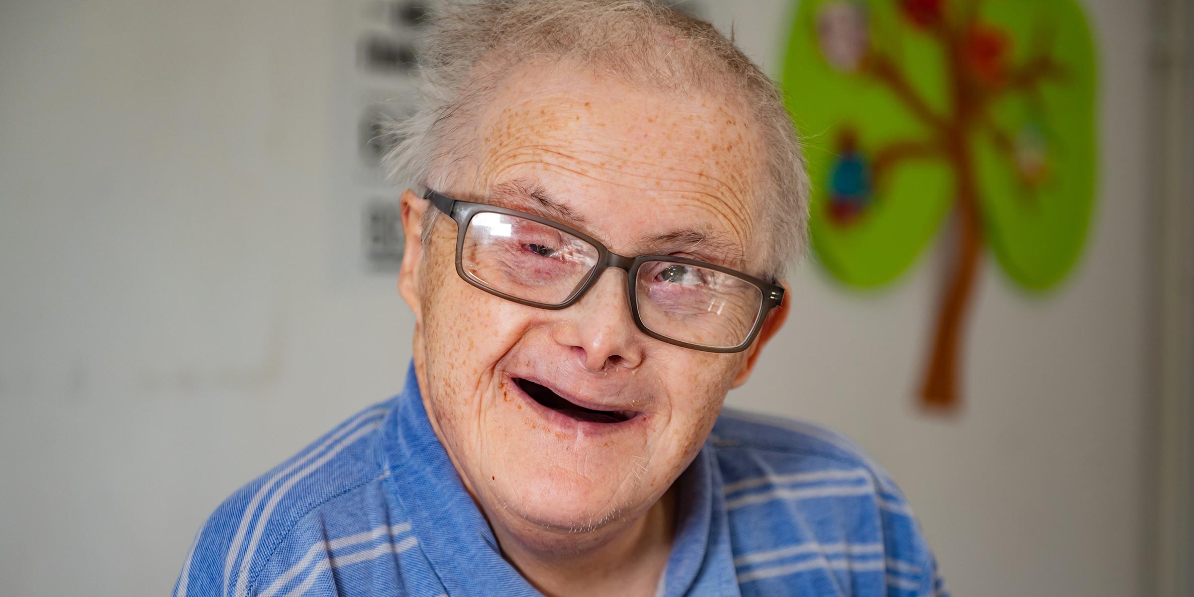 British man with Down syndrome celebrates 77th birthday