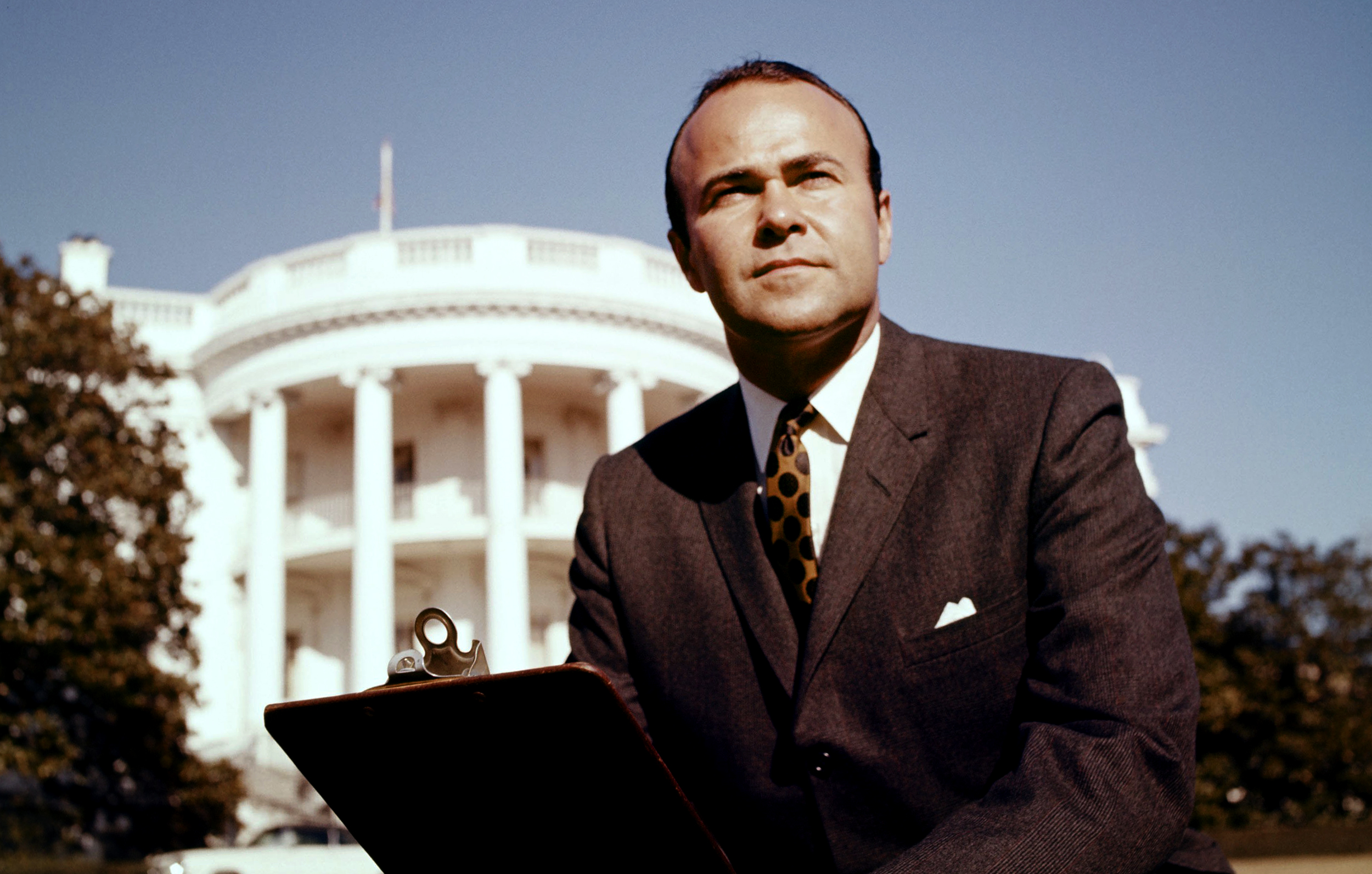 IMG SANDER VANOCUR, TV Newsman Who Covered Kennedy