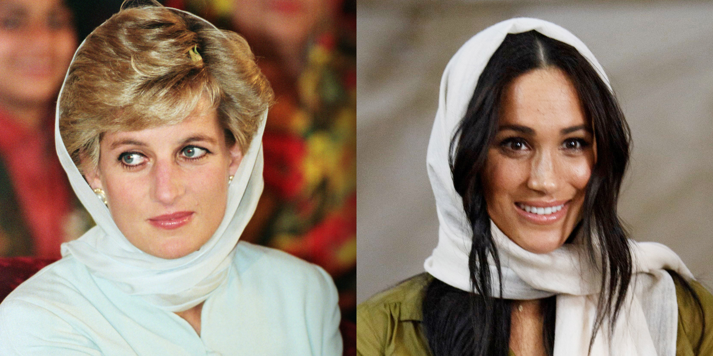 meghan markle channels princess diana in headscarf during south africa visit today show
