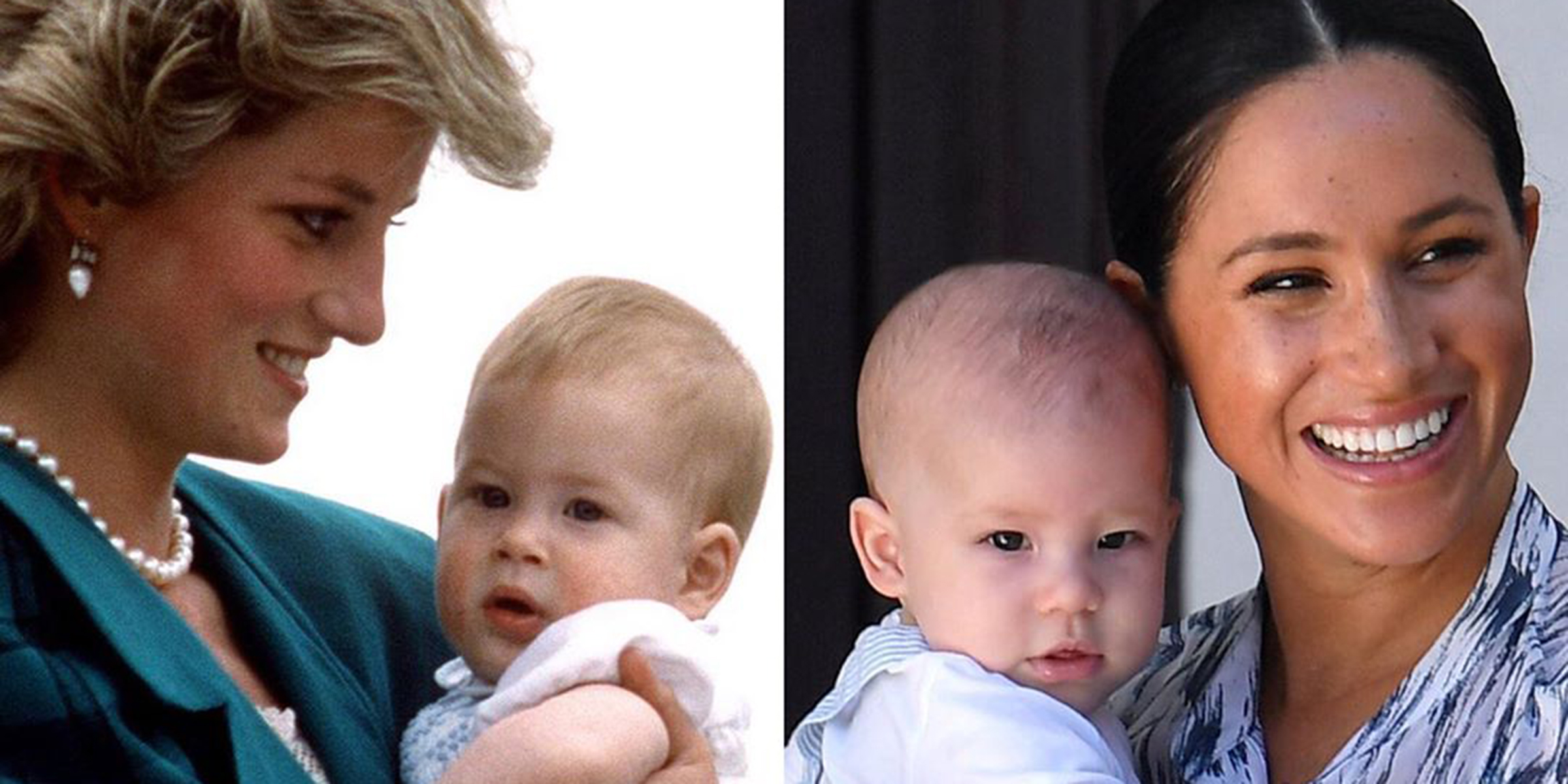 baby archie looks like the spitting image of prince harry in side by side pic prince harry in side by side pic