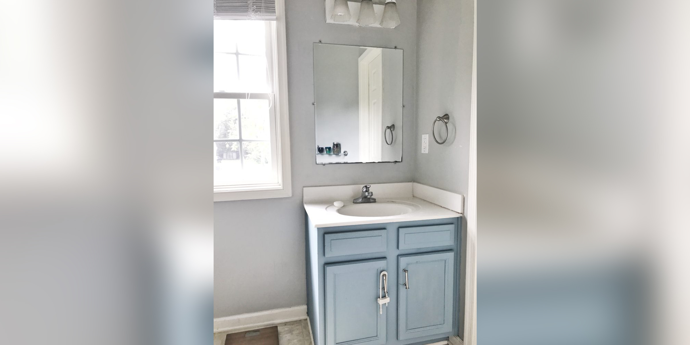 See this bathroom vanity completed transformed after paint and a few accessories